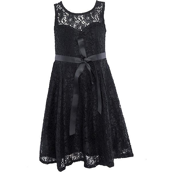 Нарядное платье для девочки LuminosoОдежда<br>Характеристики:<br><br>• Вид одежды: платье<br>• Предназначение: для праздника, торжеств<br>• Сезон: круглый год<br>• Материал: верх – 90% полиэстер, 10% эластан; подкладка – 95% хлопок, 5% эластан<br>• Цвет: черный<br>• Силуэт: классический, прямой<br>• Длина: миди<br>• Вырез горловины: круглый<br>• Застежка: молния на спинке<br>• Особенности ухода: ручная стирка без применения отбеливающих средств, глажение при низкой температуре <br><br>Luminoso – это коллекция от известного производителя Sweet Berry, который сочетает в своей одежде функциональность, качество, стиль и следование современным мировым тенденциям в текстильной индустрии для подростков. <br>Кружевное платье для девочки от знаменитого производителя детской одежды Sweet Berry выполнено из полиэстера с хлопковым подкладка<br>ом. Изделие имеет классический прямой силуэт, полочку из кружева с фигурной подкладкой и застежку-молнию на спинке. Платье выполнено в стильном черном цвете, в комплекте предусмотрен репсовый пояс. Праздничное платье от Luminoso – это залог успеха вашего ребенка на любом торжестве!<br><br>Платье для девочки Luminoso можно купить в нашем интернет-магазине.<br><br>Ширина мм: 236<br>Глубина мм: 16<br>Высота мм: 184<br>Вес г: 177<br>Цвет: черный<br>Возраст от месяцев: 108<br>Возраст до месяцев: 120<br>Пол: Женский<br>Возраст: Детский<br>Размер: 140,134,164,158,152,146<br>SKU: 5052028