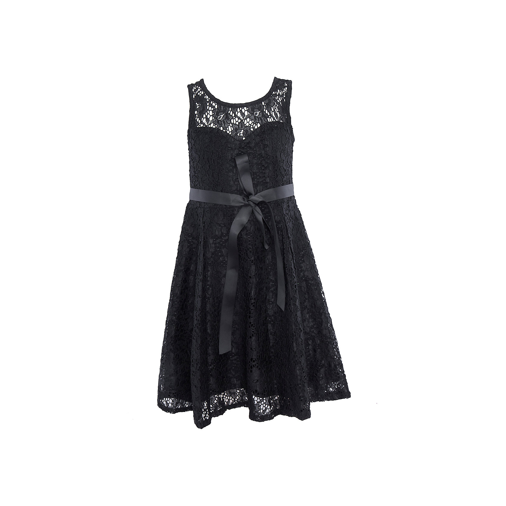 Нарядное платье для девочки LuminosoОдежда<br>Характеристики:<br><br>• Вид одежды: платье<br>• Предназначение: для праздника, торжеств<br>• Сезон: круглый год<br>• Материал: верх – 90% полиэстер, 10% эластан; подкладка – 95% хлопок, 5% эластан<br>• Цвет: черный<br>• Силуэт: классический, прямой<br>• Длина: миди<br>• Вырез горловины: круглый<br>• Застежка: молния на спинке<br>• Особенности ухода: ручная стирка без применения отбеливающих средств, глажение при низкой температуре <br><br>Luminoso – это коллекция от известного производителя Sweet Berry, который сочетает в своей одежде функциональность, качество, стиль и следование современным мировым тенденциям в текстильной индустрии для подростков. <br>Кружевное платье для девочки от знаменитого производителя детской одежды Sweet Berry выполнено из полиэстера с хлопковым подкладка<br>ом. Изделие имеет классический прямой силуэт, полочку из кружева с фигурной подкладкой и застежку-молнию на спинке. Платье выполнено в стильном черном цвете, в комплекте предусмотрен репсовый пояс. Праздничное платье от Luminoso – это залог успеха вашего ребенка на любом торжестве!<br><br>Платье для девочки Luminoso можно купить в нашем интернет-магазине.<br><br>Ширина мм: 236<br>Глубина мм: 16<br>Высота мм: 184<br>Вес г: 177<br>Цвет: черный<br>Возраст от месяцев: 96<br>Возраст до месяцев: 108<br>Пол: Женский<br>Возраст: Детский<br>Размер: 134,140,146,152,158,164<br>SKU: 5052028