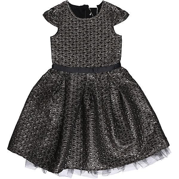 Нарядное платье для девочки LuminosoОдежда<br>Характеристики:<br><br>• Вид одежды: платье<br>• Предназначение: для праздника, торжеств<br>• Сезон: круглый год<br>• Материал: верх – 100% полиэстер; подкладка – 100% хлопок<br>• Цвет: золотистый, черный<br>• Силуэт: классический А-силуэт<br>• Длина платья: миди<br>• Длина рукава: короткий<br>• Вырез горловины: круглый, оформлен декоративной ожерельем из страз<br>• Наличие репсового пояса<br>• Застежка: молния на спинке<br>• Особенности ухода: ручная стирка без применения отбеливающих средств, глажение при низкой температуре <br><br>Luminoso – это коллекция от известного производителя Sweet Berry, который сочетает в своей одежде функциональность, качество, стиль и следование современным мировым тенденциям в текстильной индустрии для подростков. <br>Стильное платье для девочки от знаменитого производителя детской одежды Sweet Berry выполнено из полиэстера с хлопковой подкладкой. Изделие имеет классический силуэт с отрезной талией и многослойную юбку. Полочка и верхняя юбка выполнены из ткани с жаккардовым узором золотистого цвета. Горловина оформлена ожерельем из страз. У платья короткие рукава, пышность которым придает складка у основания. В комплекте имеется неширокий репсовый пояс. Праздничное платье от Luminoso – это залог успеха вашего ребенка на любом торжестве!<br><br>Платье для девочки Luminoso можно купить в нашем интернет-магазине.<br><br>Ширина мм: 236<br>Глубина мм: 16<br>Высота мм: 184<br>Вес г: 177<br>Цвет: золотой<br>Возраст от месяцев: 156<br>Возраст до месяцев: 168<br>Пол: Женский<br>Возраст: Детский<br>Размер: 140,164,134,158,152,146<br>SKU: 5052049
