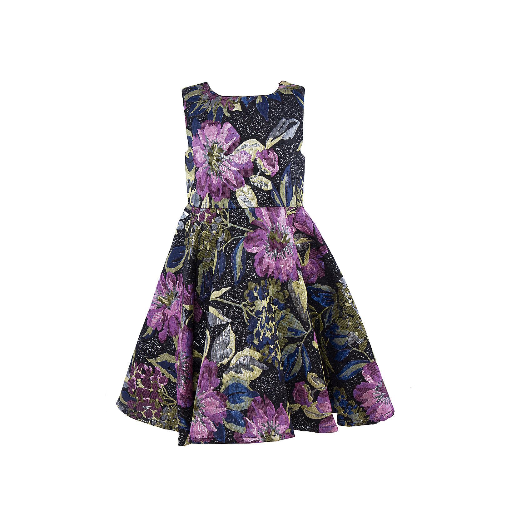 Нарядное платье для девочки Sweet BerryОдежда<br>Характеристики:<br><br>• Вид одежды: платье<br>• Предназначение: для праздника, торжеств<br>• Сезон: круглый год<br>• Материал: верх – 100% полиэстер; подкладка – 100% хлопок<br>• Цвет: лиловый, черный, синий, зеленый<br>• Силуэт: классический, с завышенной талией<br>• Длина: миди<br>• Вырез горловины: круглый<br>• Застежка: молния на спинке<br>• Особенности ухода: ручная стирка без применения отбеливающих средств, глажение при низкой температуре <br><br>Sweet Berry – это производитель, который сочетает в своей одежде функциональность, качество, стиль и следование современным мировым тенденциям в детской текстильной индустрии. <br>Платье для девочки от знаменитого производителя детской одежды Sweet Berry выполнено из полиэстера с хлопковым подкладкой. Изделие имеет классический силуэт с завышенной талией, круглую горловину, пышную юбку-солнце и застежку-молнию на спинке. Изделие выполнено из ткани, имеющей жаккардовый узор с цветочным рисунком. Платье сочетается с жакетом, выполненным из такого же материала. Праздничное платье от Sweet Berry – это залог успеха вашего ребенка на любом торжестве!<br><br>Платье для девочки Sweet Berry можно купить в нашем интернет-магазине.<br><br>Ширина мм: 236<br>Глубина мм: 16<br>Высота мм: 184<br>Вес г: 177<br>Цвет: лиловый<br>Возраст от месяцев: 36<br>Возраст до месяцев: 48<br>Пол: Женский<br>Возраст: Детский<br>Размер: 104,122,128,98,110,116<br>SKU: 5052070