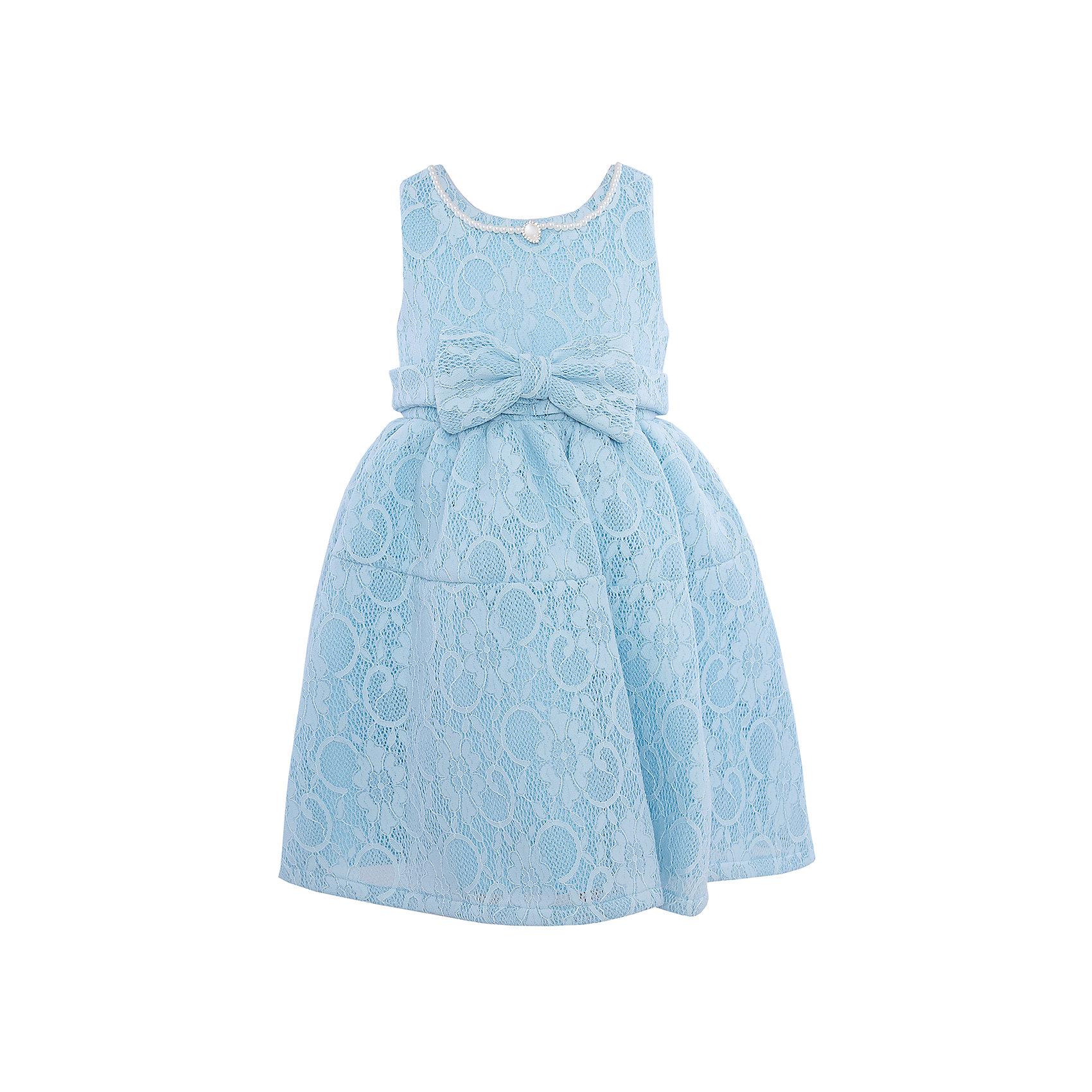 Нарядное платье для девочки Sweet BerryХарактеристики:<br><br>• Вид одежды: платье<br>• Предназначение: для праздника, торжеств<br>• Сезон: круглый год<br>• Материал: верх – 100% полиэстер; подкладка – 100% хлопок<br>• Цвет: голубой<br>• Силуэт: классический А-силуэт<br>• Длина платья: миди<br>• Вырез горловины: круглый<br>• Горловина декорирована бусинами и кулоном<br>• Наличие объемного пояса с декоративным бантом<br>• Застежка: молния на спинке<br>• Особенности ухода: ручная стирка без применения отбеливающих средств, глажение при низкой температуре <br><br>Sweet Berry – это производитель, который сочетает в своей одежде функциональность, качество, стиль и следование современным мировым тенденциям в детской текстильной индустрии. <br>Платье для девочки от знаменитого производителя детской одежды Sweet Berry выполнено из полиэстера с хлопковым подкладкой. Изделие имеет классический силуэт с отрезной талией и отрезной кокеткой у пышной юбки. Пышность юбке придает атласный подклад и подъюбник из сетки. Изделие выполнено из кружевной ткани нежно-голубого цвета, декорировано объемным поясом с декоративным бантом. Горловина оформлена бусинами в форме жемчужин и кулоном в форме капли. Праздничное платье от Sweet Berry – это залог успеха вашего ребенка на любом торжестве!<br><br>Платье для девочки Sweet Berry можно купить в нашем интернет-магазине.<br><br>Ширина мм: 236<br>Глубина мм: 16<br>Высота мм: 184<br>Вес г: 177<br>Цвет: голубой<br>Возраст от месяцев: 36<br>Возраст до месяцев: 48<br>Пол: Женский<br>Возраст: Детский<br>Размер: 104,98,110,116,122,128<br>SKU: 5052077