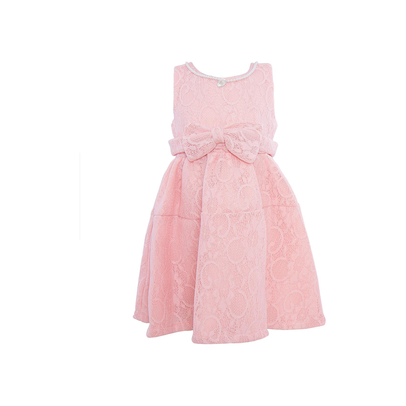 Нарядное платье для девочки Sweet BerryХарактеристики:<br><br>• Вид одежды: платье<br>• Предназначение: для праздника, торжеств<br>• Сезон: круглый год<br>• Материал: верх – 100% полиэстер; подкладка – 100% хлопок<br>• Цвет: пудровый <br>• Силуэт: классический А-силуэт<br>• Длина платья: миди<br>• Вырез горловины: круглый<br>• Горловина декорирована бусинами и кулоном<br>• Наличие объемного пояса с декоративным бантом<br>• Застежка: молния на спинке<br>• Особенности ухода: ручная стирка без применения отбеливающих средств, глажение при низкой температуре <br><br>Sweet Berry – это производитель, который сочетает в своей одежде функциональность, качество, стиль и следование современным мировым тенденциям в детской текстильной индустрии. <br>Платье для девочки от знаменитого производителя детской одежды Sweet Berry выполнено из полиэстера с хлопковым подкладкой. Изделие имеет классический силуэт с отрезной талией и отрезной кокеткой у пышной юбки. Пышность юбке придает атласный подклад и подъюбник из сетки. Изделие выполнено из кружевной ткани пудрового оттенка, декорировано объемным поясом с декоративным бантом. Горловина оформлена бусинами в форме жемчужин и кулоном в форме капли. Праздничное платье от Sweet Berry – это залог успеха вашего ребенка на любом торжестве!<br><br>Платье для девочки Sweet Berry можно купить в нашем интернет-магазине.<br><br>Ширина мм: 236<br>Глубина мм: 16<br>Высота мм: 184<br>Вес г: 177<br>Цвет: бежевый<br>Возраст от месяцев: 24<br>Возраст до месяцев: 36<br>Пол: Женский<br>Возраст: Детский<br>Размер: 104,128,122,116,110,98<br>SKU: 5052091