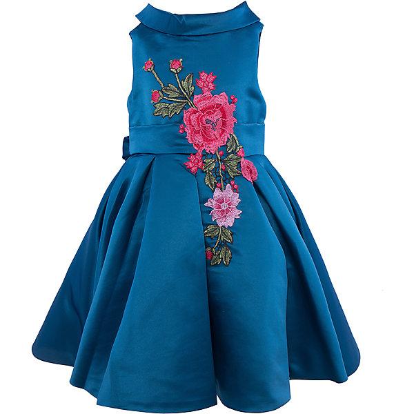 Нарядное платье для девочки Sweet BerryОдежда<br>Характеристики:<br><br>• Вид одежды: платье<br>• Предназначение: для праздника, торжеств<br>• Сезон: круглый год<br>• Материал: верх – 100% полиэстер; подкладка – 100% хлопок<br>• Цвет: сине-изумрудный<br>• Силуэт: классический А-силуэт<br>• Длина платья: миди<br>• Вырез горловины: круглый<br>• Воротник: хомут мягкий<br>• Наличие втачного пояса с декоративным бантом<br>• Застежка: молния на спинке<br>• Платье декорировано вышивкой<br>• Особенности ухода: ручная стирка без применения отбеливающих средств, глажение при низкой температуре <br><br>Sweet Berry – это производитель, который сочетает в своей одежде функциональность, качество, стиль и следование современным мировым тенденциям в детской текстильной индустрии. <br>Платье для девочки от знаменитого производителя детской одежды Sweet Berry выполнено из полиэстера с хлопковой подкладкой. Изделие имеет классический силуэт с отрезной талией и пышной юбкой. Пышность юбке придает подъюбник из сетки. Изделие выполнено из атласной ткани модного сине-изумрудного оттенка с воротником в форме мягкого хомута. Кокетка и юбка декорированы разноцветной вышивкой в форме крупных цветков. У платья имеется втачной пояс, который завязывается сзади на бант. Праздничное платье от Sweet Berry – это залог успеха вашего ребенка на любом торжестве!<br><br>Платье для девочки Sweet Berry можно купить в нашем интернет-магазине.<br><br>Ширина мм: 236<br>Глубина мм: 16<br>Высота мм: 184<br>Вес г: 177<br>Цвет: зеленый<br>Возраст от месяцев: 84<br>Возраст до месяцев: 96<br>Пол: Женский<br>Возраст: Детский<br>Размер: 128,104,122,116,110,98<br>SKU: 5052105