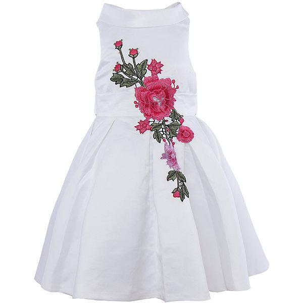 Нарядное платье для девочки Sweet BerryОдежда<br>Характеристики:<br><br>• Вид одежды: платье<br>• Предназначение: для праздника, торжеств<br>• Сезон: круглый год<br>• Материал: верх – 100% полиэстер; подкладка – 100% хлопок<br>• Цвет: белый<br>• Силуэт: классический А-силуэт<br>• Длина платья: миди<br>• Вырез горловины: круглый<br>• Воротник: хомут мягкий<br>• Наличие втачного пояса с декоративным бантом<br>• Застежка: молния на спинке<br>• Платье декорировано вышивкой<br>• Особенности ухода: ручная стирка без применения отбеливающих средств, глажение при низкой температуре <br><br>Sweet Berry – это производитель, который сочетает в своей одежде функциональность, качество, стиль и следование современным мировым тенденциям в детской текстильной индустрии. <br>Платье для девочки от знаменитого производителя детской одежды Sweet Berry выполнено из полиэстера с хлопковой подкладкой. Изделие имеет классический силуэт с отрезной талией и пышной юбкой. Пышность юбке придает подъюбник из сетки. Изделие выполнено из атласной ткани белого цвета с воротником в форме мягкого хомута. Кокетка и юбка декорированы разноцветной вышивкой в форме крупных цветков. У платья имеется втачной пояс, который завязывается сзади на бант. Праздничное платье от Sweet Berry – это залог успеха вашего ребенка на любом торжестве!<br><br>Платье для девочки Sweet Berry можно купить в нашем интернет-магазине.<br>Ширина мм: 236; Глубина мм: 16; Высота мм: 184; Вес г: 177; Цвет: белый; Возраст от месяцев: 24; Возраст до месяцев: 36; Пол: Женский; Возраст: Детский; Размер: 98,104,128,122,116,110; SKU: 5052112;