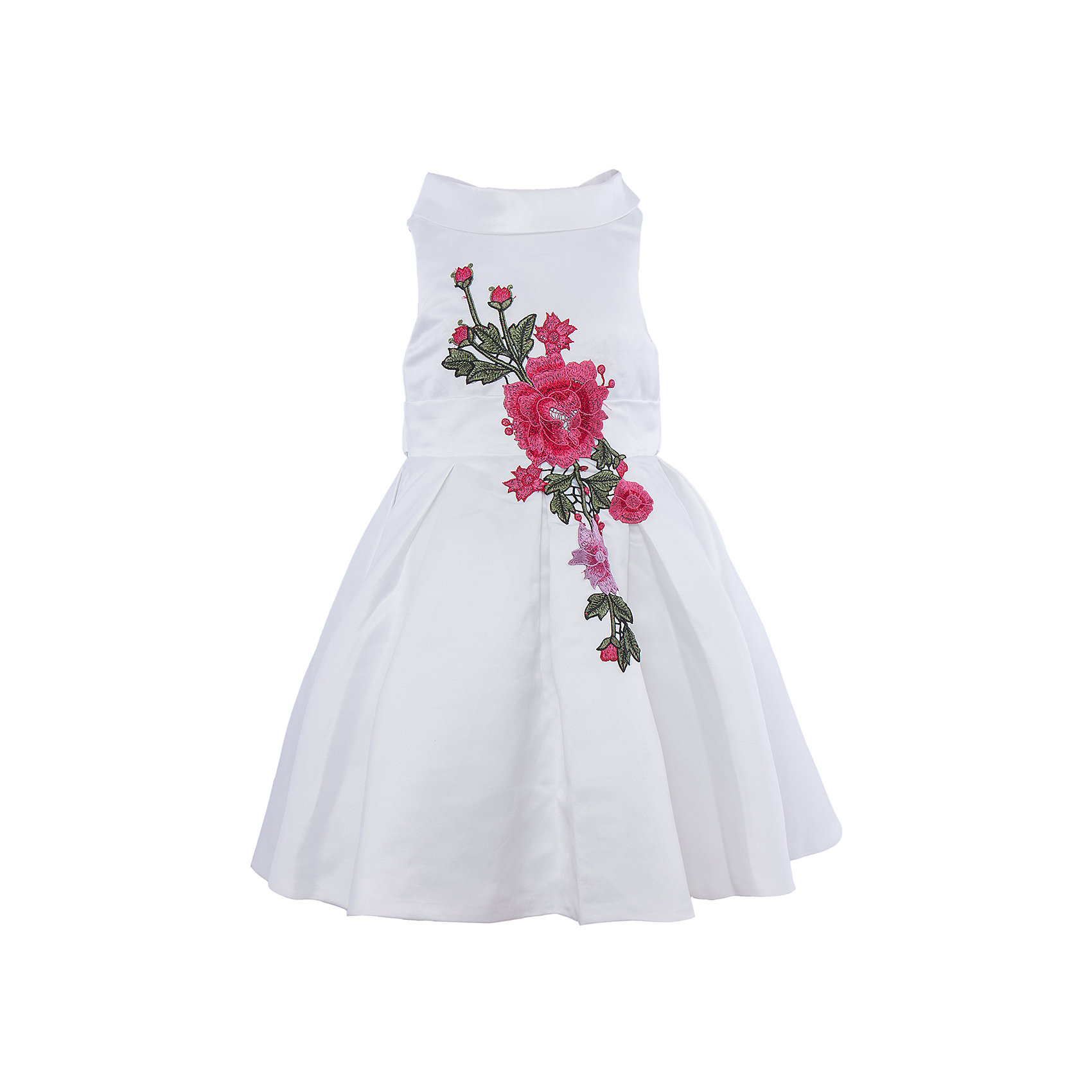 Нарядное платье для девочки Sweet BerryОдежда<br>Характеристики:<br><br>• Вид одежды: платье<br>• Предназначение: для праздника, торжеств<br>• Сезон: круглый год<br>• Материал: верх – 100% полиэстер; подкладка – 100% хлопок<br>• Цвет: белый<br>• Силуэт: классический А-силуэт<br>• Длина платья: миди<br>• Вырез горловины: круглый<br>• Воротник: хомут мягкий<br>• Наличие втачного пояса с декоративным бантом<br>• Застежка: молния на спинке<br>• Платье декорировано вышивкой<br>• Особенности ухода: ручная стирка без применения отбеливающих средств, глажение при низкой температуре <br><br>Sweet Berry – это производитель, который сочетает в своей одежде функциональность, качество, стиль и следование современным мировым тенденциям в детской текстильной индустрии. <br>Платье для девочки от знаменитого производителя детской одежды Sweet Berry выполнено из полиэстера с хлопковой подкладкой. Изделие имеет классический силуэт с отрезной талией и пышной юбкой. Пышность юбке придает подъюбник из сетки. Изделие выполнено из атласной ткани белого цвета с воротником в форме мягкого хомута. Кокетка и юбка декорированы разноцветной вышивкой в форме крупных цветков. У платья имеется втачной пояс, который завязывается сзади на бант. Праздничное платье от Sweet Berry – это залог успеха вашего ребенка на любом торжестве!<br><br>Платье для девочки Sweet Berry можно купить в нашем интернет-магазине.<br><br>Ширина мм: 236<br>Глубина мм: 16<br>Высота мм: 184<br>Вес г: 177<br>Цвет: белый<br>Возраст от месяцев: 24<br>Возраст до месяцев: 36<br>Пол: Женский<br>Возраст: Детский<br>Размер: 98,104,128,122,116,110<br>SKU: 5052112