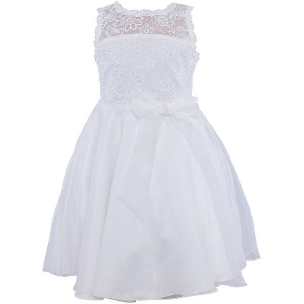 Нарядное платье для девочки Sweet BerryОдежда<br>Характеристики:<br><br>• Вид одежды: платье<br>• Предназначение: для праздника, торжеств<br>• Сезон: круглый год<br>• Материал: верх – 100% полиэстер; подкладка – 100% хлопок<br>• Цвет: белый<br>• Силуэт: классический А-силуэт<br>• Длина платья: миди<br>• Вырез горловины: круглый<br>• Наличие банта сзади<br>• Застежка: пуговицы на спинке<br>• Платье декорировано бусинами в форме жемчужин<br>• Особенности ухода: ручная стирка без применения отбеливающих средств, глажение при низкой температуре <br><br>Sweet Berry – это производитель, который сочетает в своей одежде функциональность, качество, стиль и следование современным мировым тенденциям в детской текстильной индустрии. <br>Нежное платье для девочки от знаменитого производителя детской одежды Sweet Berry выполнено из полиэстера с хлопковой подкладкой. Изделие имеет классический силуэт с отрезной талией и пышной атласной юбкой. Пышность и объем юбке придает подъюбник. Кокетка и спинка выполнены из нежнейшего итальянского кружева белого цвета, горловина и вырезы рукавов обработаны тесьмой из кружева. Талия декорирована жемчужинами и поясом с бантом. Праздничное платье от Sweet Berry – это залог успеха вашего ребенка на любом торжестве!<br><br>Платье для девочки Sweet Berry можно купить в нашем интернет-магазине.<br><br>Ширина мм: 236<br>Глубина мм: 16<br>Высота мм: 184<br>Вес г: 177<br>Цвет: белый<br>Возраст от месяцев: 24<br>Возраст до месяцев: 36<br>Пол: Женский<br>Возраст: Детский<br>Размер: 104,128,122,116,110,98<br>SKU: 5052119