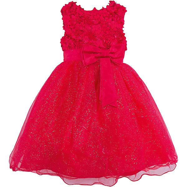 Нарядное платье для девочки Sweet BerryОдежда<br>Характеристики:<br><br>• Вид одежды: платье<br>• Предназначение: для праздника, торжеств<br>• Сезон: круглый год<br>• Материал: верх – 100% полиэстер; подкладка – 100% хлопок<br>• Цвет: рубиновый<br>• Силуэт: классический А-силуэт<br>• Длина платья: миди<br>• Вырез горловины: круглый<br>• Наличие пояса с бантом спереди<br>• Застежка: молния на спинке<br>• Особенности ухода: ручная стирка без применения отбеливающих средств, глажение при низкой температуре <br><br>Sweet Berry – это производитель, который сочетает в своей одежде функциональность, качество, стиль и следование современным мировым тенденциям в детской текстильной индустрии. <br>Рубиновое платье для девочки от знаменитого производителя детской одежды Sweet Berry выполнено из полиэстера с хлопковой подкладкой. Изделие имеет классический силуэт с отрезной талией и пышной юбкой, выполненной из нескольких слоев сетки. Пышность и объем юбке придает подъюбник. Оригинальная полочка выполнена из сетки с объемными лепестками роз, которые придают особую воздушность и объем платью. Талия декорирована поясом с бантом спереди. Праздничное платье от Sweet Berry – это залог успеха вашего ребенка на любом торжестве!<br><br>Платье для девочки Sweet Berry можно купить в нашем интернет-магазине.<br>Ширина мм: 236; Глубина мм: 16; Высота мм: 184; Вес г: 177; Цвет: красный; Возраст от месяцев: 24; Возраст до месяцев: 36; Пол: Женский; Возраст: Детский; Размер: 98,104,128,122,116,110; SKU: 5052126;