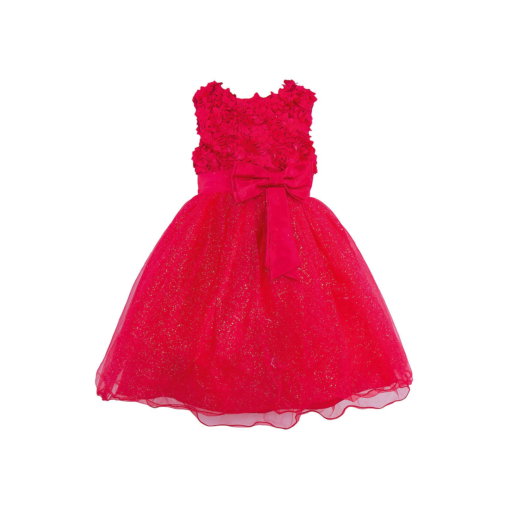 Нарядное платье для девочки Sweet BerryОдежда<br>Характеристики:<br><br>• Вид одежды: платье<br>• Предназначение: для праздника, торжеств<br>• Сезон: круглый год<br>• Материал: верх – 100% полиэстер; подкладка – 100% хлопок<br>• Цвет: рубиновый<br>• Силуэт: классический А-силуэт<br>• Длина платья: миди<br>• Вырез горловины: круглый<br>• Наличие пояса с бантом спереди<br>• Застежка: молния на спинке<br>• Особенности ухода: ручная стирка без применения отбеливающих средств, глажение при низкой температуре <br><br>Sweet Berry – это производитель, который сочетает в своей одежде функциональность, качество, стиль и следование современным мировым тенденциям в детской текстильной индустрии. <br>Рубиновое платье для девочки от знаменитого производителя детской одежды Sweet Berry выполнено из полиэстера с хлопковой подкладкой. Изделие имеет классический силуэт с отрезной талией и пышной юбкой, выполненной из нескольких слоев сетки. Пышность и объем юбке придает подъюбник. Оригинальная полочка выполнена из сетки с объемными лепестками роз, которые придают особую воздушность и объем платью. Талия декорирована поясом с бантом спереди. Праздничное платье от Sweet Berry – это залог успеха вашего ребенка на любом торжестве!<br><br>Платье для девочки Sweet Berry можно купить в нашем интернет-магазине.<br><br>Ширина мм: 236<br>Глубина мм: 16<br>Высота мм: 184<br>Вес г: 177<br>Цвет: красный<br>Возраст от месяцев: 60<br>Возраст до месяцев: 72<br>Пол: Женский<br>Возраст: Детский<br>Размер: 116,104,98,110,122,128<br>SKU: 5052126