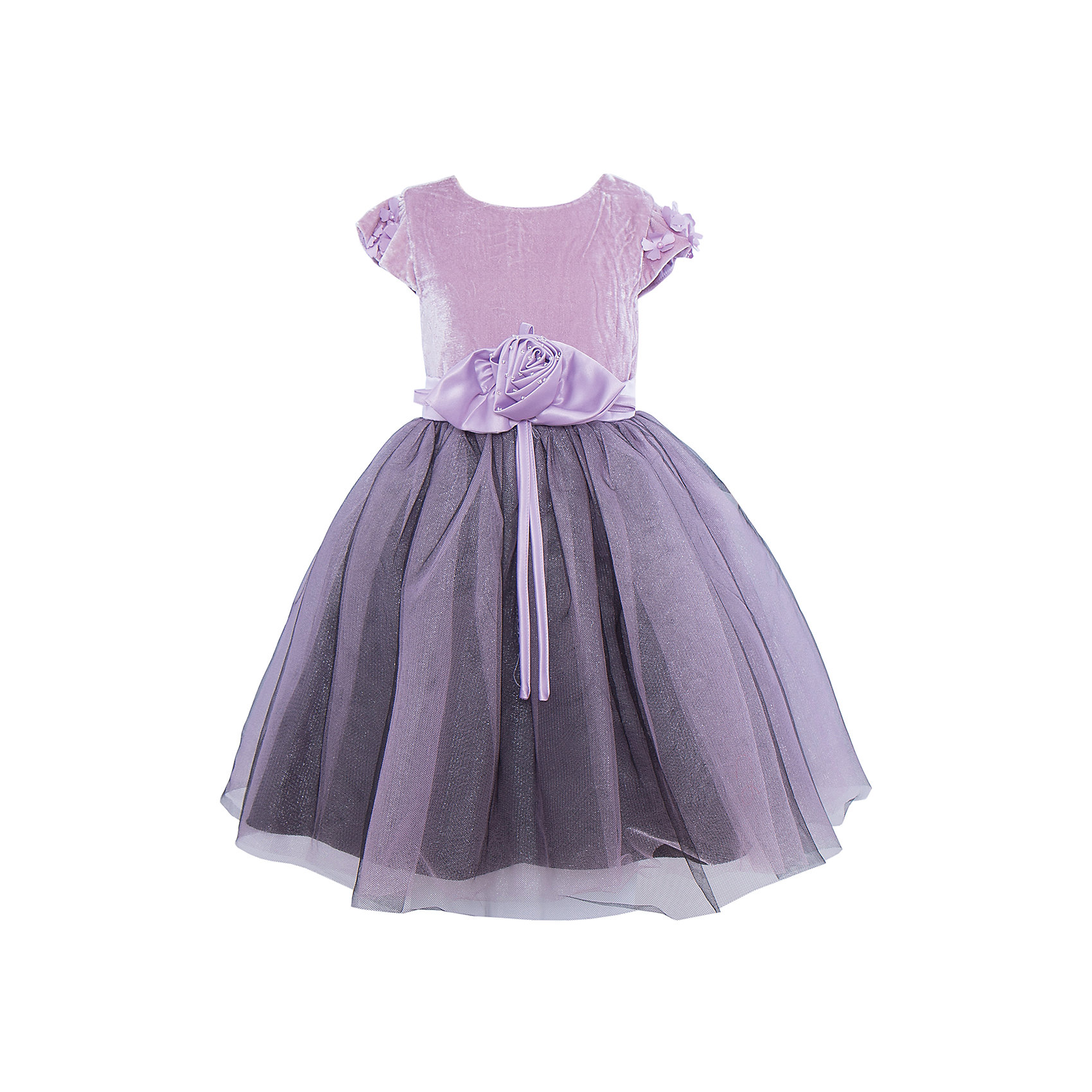 Нарядное платье для девочки Sweet BerryХарактеристики:<br><br>• Вид одежды: платье<br>• Предназначение: для праздника, торжеств<br>• Сезон: круглый год<br>• Материал: верх – 100% полиэстер; подкладка – 100% хлопок<br>• Цвет: пурпурно-лиловый<br>• Силуэт: классический А-силуэт<br>• Длина платья: миди<br>• Вырез горловины: круглый<br>• Длина рукава: короткий<br>• Наличие пояса, декорированного текстильным цветком и бисером<br>• Застежка: молния на спинке<br>• Особенности ухода: ручная стирка без применения отбеливающих средств, глажение при низкой температуре <br><br>Sweet Berry – это производитель, который сочетает в своей одежде функциональность, качество, стиль и следование современным мировым тенденциям в детской текстильной индустрии. <br>Комбинированное платье для девочки от знаменитого производителя детской одежды Sweet Berry выполнено из полиэстера с хлопковой подкладкой. Изделие имеет классический силуэт с отрезной талией и пышную многослойную юбку. Пышность и объем юбке придает подъюбник. Полочка выполнена из лилового бархата, небольшие рукава оформлены текстильными цветами с бусинами в форме женчужин. Талия декорирована поясом, у которого спереди имеется атласный цветок, украшенный бисером, на спинке пояс завязывается бантом. Праздничное платье от Sweet Berry – это залог успеха вашего ребенка на любом торжестве!<br><br>Платье для девочки Sweet Berry можно купить в нашем интернет-магазине.<br><br>Ширина мм: 236<br>Глубина мм: 16<br>Высота мм: 184<br>Вес г: 177<br>Цвет: фиолетовый<br>Возраст от месяцев: 24<br>Возраст до месяцев: 36<br>Пол: Женский<br>Возраст: Детский<br>Размер: 98,104,128,122,116,110<br>SKU: 5052140