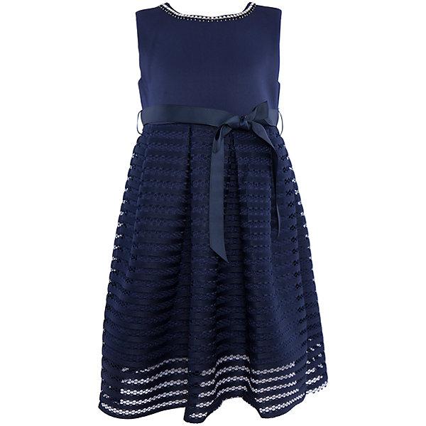 Нарядное платье для девочки Sweet BerryОдежда<br>Характеристики:<br><br>• Вид одежды: платье<br>• Предназначение: для праздника, торжеств<br>• Сезон: круглый год<br>• Материал: верх – 95% полиэстер, 5% эластан; подкладка – 100% хлопок<br>• Цвет: темно-синий<br>• Силуэт: классический А-силуэт<br>• Длина платья: миди<br>• Вырез горловины: круглый, оформлен декоративной тесьмой-ожерельем<br>• Наличие репсового пояса<br>• Застежка: молния на спинке<br>• Особенности ухода: ручная стирка без применения отбеливающих средств, глажение при низкой температуре <br><br>Sweet Berry – это производитель, который сочетает в своей одежде функциональность, качество, стиль и следование современным мировым тенденциям в детской текстильной индустрии. <br>Стильное платье для девочки от знаменитого производителя детской одежды Sweet Berry выполнено из полиэстера с хлопковой подкладкой. Изделие имеет классический силуэт с отрезной талией и юбку с 3-d эффектом. Полочка выполнена из легкого трикотажа, вырез горловины оформлен декоративной тесьмой-ожерельем серебристого цвета. В комплекте имеется неширокий репсовый пояс. Праздничное платье от Sweet Berry – это залог успеха вашего ребенка на любом торжестве!<br><br>Платье для девочки Sweet Berry можно купить в нашем интернет-магазине.<br>Ширина мм: 236; Глубина мм: 16; Высота мм: 184; Вес г: 177; Цвет: синий; Возраст от месяцев: 24; Возраст до месяцев: 36; Пол: Женский; Возраст: Детский; Размер: 98,104,128,122,116,110; SKU: 5052182;