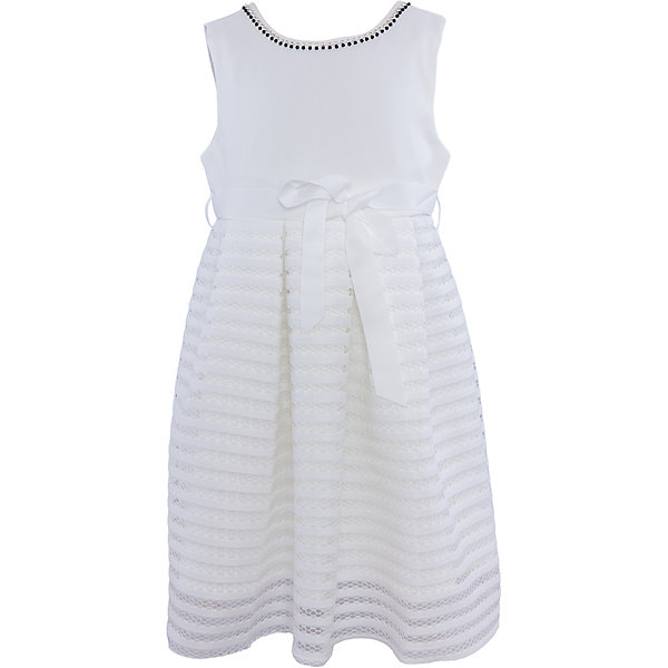 Нарядное платье для девочки Sweet BerryОдежда<br>Характеристики:<br><br>• Вид одежды: платье<br>• Предназначение: для праздника, торжеств<br>• Сезон: круглый год<br>• Материал: верх – 95% полиэстер, 5% эластан; подкладка – 100% хлопок<br>• Цвет: белый<br>• Силуэт: классический А-силуэт<br>• Длина платья: миди<br>• Вырез горловины: круглый, оформлен декоративной тесьмой-ожерельем<br>• Наличие репсового пояса<br>• Застежка: молния на спинке<br>• Особенности ухода: ручная стирка без применения отбеливающих средств, глажение при низкой температуре <br><br>Sweet Berry – это производитель, который сочетает в своей одежде функциональность, качество, стиль и следование современным мировым тенденциям в детской текстильной индустрии. <br>Стильное платье для девочки от знаменитого производителя детской одежды Sweet Berry выполнено из полиэстера с хлопковой подкладкой. Изделие имеет классический силуэт с отрезной талией и юбку с 3-d эффектом. Полочка выполнена из легкого трикотажа, вырез горловины оформлен декоративной тесьмой-ожерельем серебристого цвета. В комплекте имеется неширокий репсовый пояс. Праздничное платье от Sweet Berry – это залог успеха вашего ребенка на любом торжестве!<br><br>Платье для девочки Sweet Berry можно купить в нашем интернет-магазине.<br><br>Ширина мм: 236<br>Глубина мм: 16<br>Высота мм: 184<br>Вес г: 177<br>Цвет: белый<br>Возраст от месяцев: 24<br>Возраст до месяцев: 36<br>Пол: Женский<br>Возраст: Детский<br>Размер: 98,104,128,122,116,110<br>SKU: 5052189