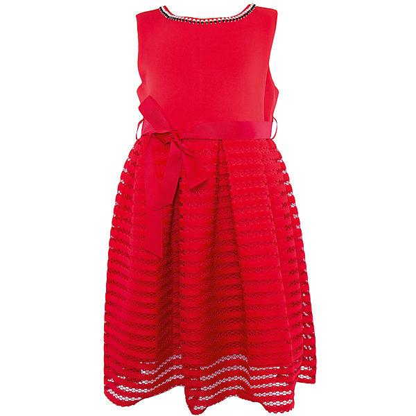 Нарядное платье для девочки Sweet BerryОдежда<br>Характеристики:<br><br>• Вид одежды: платье<br>• Предназначение: для праздника, торжеств<br>• Сезон: круглый год<br>• Материал: верх – 95% полиэстер, 5% эластан; подкладка – 100% хлопок<br>• Цвет: красный<br>• Силуэт: классический А-силуэт<br>• Длина платья: миди<br>• Вырез горловины: круглый, оформлен декоративной тесьмой-ожерельем<br>• Наличие репсового пояса<br>• Застежка: молния на спинке<br>• Особенности ухода: ручная стирка без применения отбеливающих средств, глажение при низкой температуре <br><br>Sweet Berry – это производитель, который сочетает в своей одежде функциональность, качество, стиль и следование современным мировым тенденциям в детской текстильной индустрии. <br>Стильное платье для девочки от знаменитого производителя детской одежды Sweet Berry выполнено из полиэстера с хлопковой подкладкой. Изделие имеет классический силуэт с отрезной талией и юбку с 3-d эффектом. Полочка выполнена из легкого трикотажа, вырез горловины оформлен декоративной тесьмой-ожерельем серебристого цвета. В комплекте имеется неширокий репсовый пояс. Праздничное платье от Sweet Berry – это залог успеха вашего ребенка на любом торжестве!<br><br>Платье для девочки Sweet Berry можно купить в нашем интернет-магазине.<br>Ширина мм: 236; Глубина мм: 16; Высота мм: 184; Вес г: 177; Цвет: красный; Возраст от месяцев: 24; Возраст до месяцев: 36; Пол: Женский; Возраст: Детский; Размер: 98,104,128,122,116,110; SKU: 5052196;