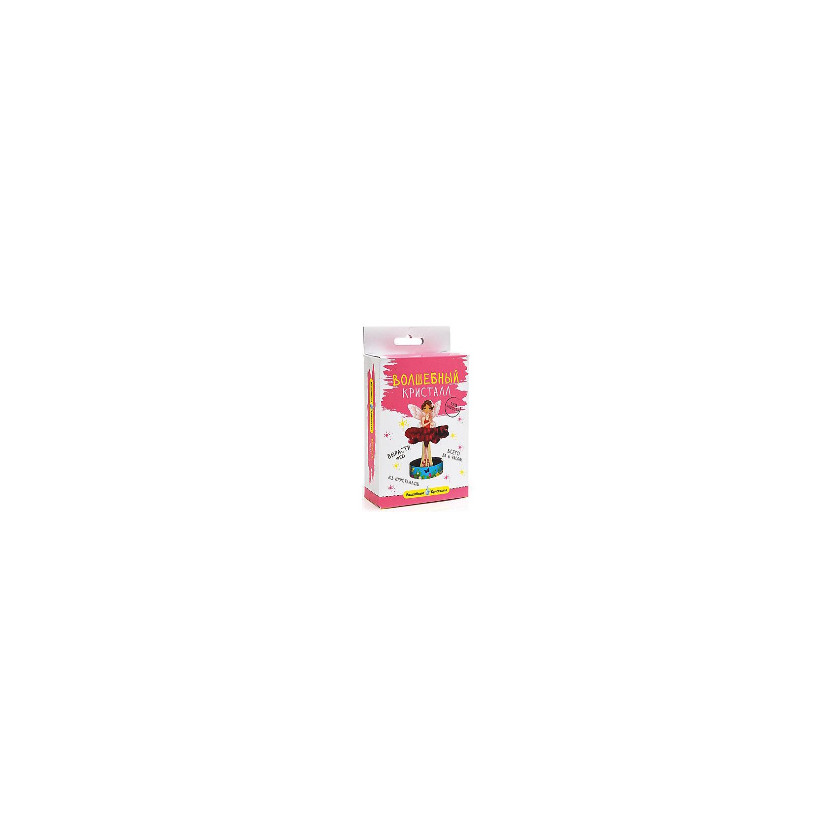 Набор для экспериментов Волшебные кристаллы - Фея в розовом БумбарамКристаллы<br>Волшебные кристаллы Фея розовая Бумбарам.<br><br>Характеристики:<br><br>• интересный эксперимент с выращиванием кристаллов<br>• яркий цвет<br>• пошаговая инструкция<br>• прост в использовании<br>• безопасен для детей<br>• пошаговая инструкция в комплекте<br>• размер упаковки: 16,5х10х3 см<br>• вес: 50 грамм<br>• цвет: розовый<br>• готовую поделку рекомендуется покрыть лаком<br><br>С набором Волшебные кристаллы. Фея ребенок сможет создать прекрасную фею с очаровательной юбкой. Для этого нужно установить каркас феи на подставку и добавить специальный раствор. Уже через 6 часов юбка феи станет очень пышной, чем непременно порадует любителей прекрасного. Волшебная фея станет превосходным дополнением к детской комнате!<br><br>Волшебные кристаллы Фея Бумбарам розовая можно купить в нашем интернет-магазине.<br><br>Ширина мм: 170<br>Глубина мм: 100<br>Высота мм: 30<br>Вес г: 50<br>Возраст от месяцев: 72<br>Возраст до месяцев: 144<br>Пол: Женский<br>Возраст: Детский<br>SKU: 5053926