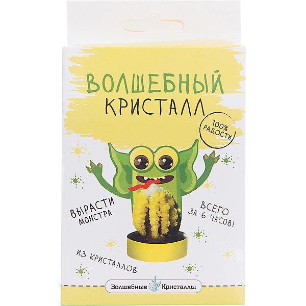 Волшебные кристаллы Зеленый монстрик БумбарамВыращивание кристаллов<br>Волшебные кристаллы Монстрик зеленый, Бумбарам<br><br>Характеристики:<br><br>• вы можете вырастить забавного монстра не выходя из дома.<br>• набор прост в использовании<br>• безопасен для детей<br>• пошаговая инструкция<br>• готовая поделка уже через 6 часов<br>• размер упаковки: 16,5х10х3 см<br>• вес: 50 грамм<br>• в комплекте: основа, подставка из пластика, специальный раствор, инструкция<br>• материалы: реактив, бумага, пластик, картон<br>• готовую поделку рекомендуется покрыть лаком<br><br>В наборе вы найдете картонную фигурку забавного монстра. Чего же ему не хватает? Конечно же, желтых кристаллов, которые отлично дополнят его! Установите картонную основу на подставку, добавьте специальный раствор и подождите 6 часов - веселый монстрик готов! Все материалы безопасны для ребенка. Выращивание кристаллов развивает усидчивость и внимательность. Набор для выращивания кристаллов станет отличным подарком юному химику!<br><br>Волшебные кристаллы Монстрик зеленый, Бумбарам вы можете купить в нашем интернет-магазине.<br><br>Ширина мм: 170<br>Глубина мм: 100<br>Высота мм: 30<br>Вес г: 50<br>Возраст от месяцев: 72<br>Возраст до месяцев: 144<br>Пол: Унисекс<br>Возраст: Детский<br>SKU: 5053932
