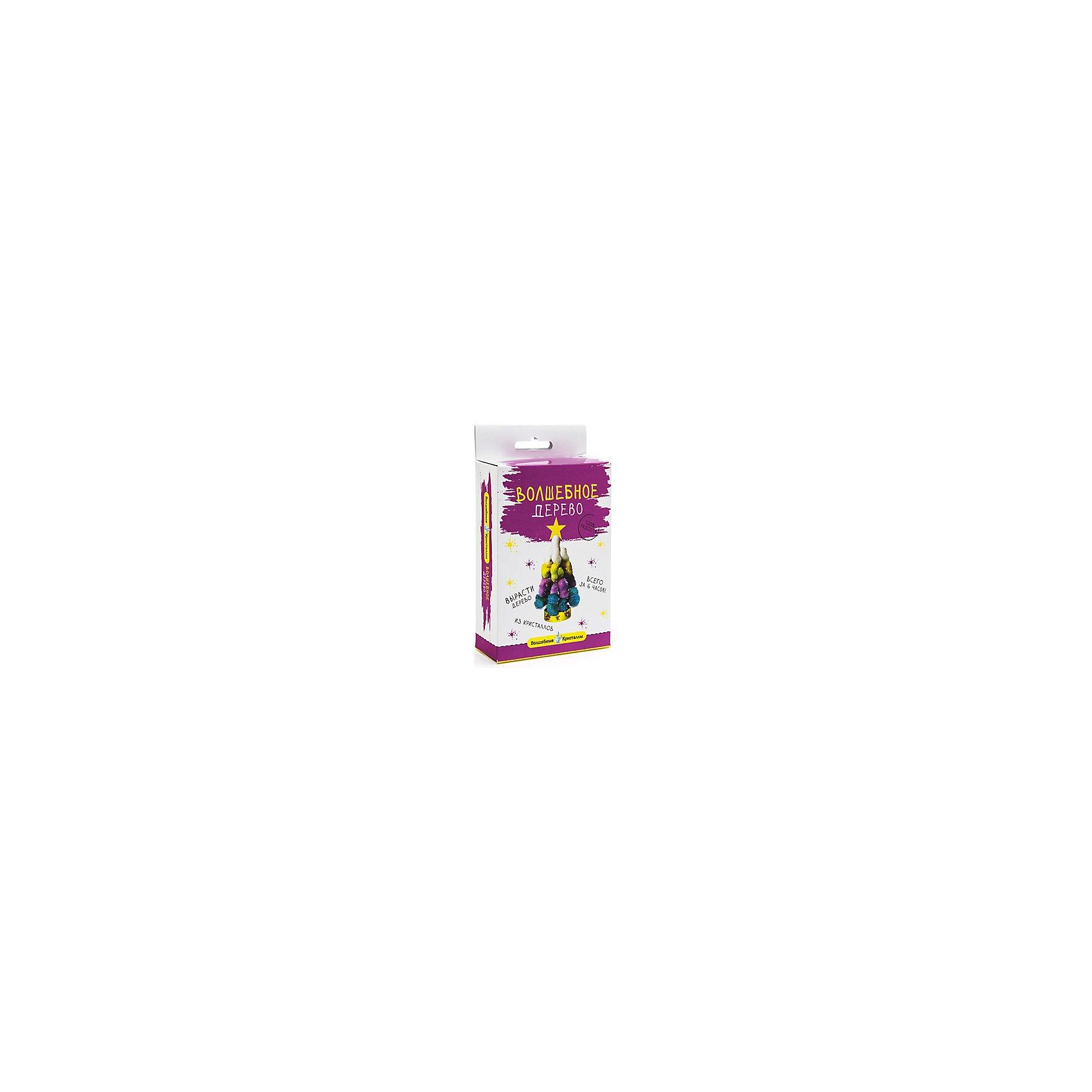 Набор для выращивания кристаллов Волшебное дерево - Елка со звездой БумбарамВолшебные кристаллы Елочка разноцветная со звездой, Бумбарам.<br><br>Характеристики:<br><br>• вы можете вырастить красивую елку<br>• безопасен для детей<br>• пошаговая инструкция<br>• готовая поделка уже через 6 часов<br>• размер упаковки: 16,5х10х3 см<br>• вес: 50 грамм<br>• в комплекте: основа, подставка из пластика, специальный раствор, инструкция<br>• материалы: реактив, бумага, пластик, картон<br>• готовую поделку рекомендуется покрыть лаком<br><br>С помощью этого набора Волшебные кристаллы ребенок сможет самостоятельно создать пушистую блестящую елочку своими руками. Для этого нужно соединить основу и подставку и налить специальный раствор. Уже через 6 часов елочка покроется волшебными разноцветными кристаллами. Все материалы безопасны для ребенка и просты в использовании. Такая елочка украсит комнату и добавит новогоднюю нотку к интерьеру.<br><br>Волшебные кристаллы Елочка разноцветная со звездой, Бумбарам можно купить в нашем интернет-магазине.<br><br>Ширина мм: 170<br>Глубина мм: 100<br>Высота мм: 30<br>Вес г: 50<br>Возраст от месяцев: 72<br>Возраст до месяцев: 144<br>Пол: Унисекс<br>Возраст: Детский<br>SKU: 5053936