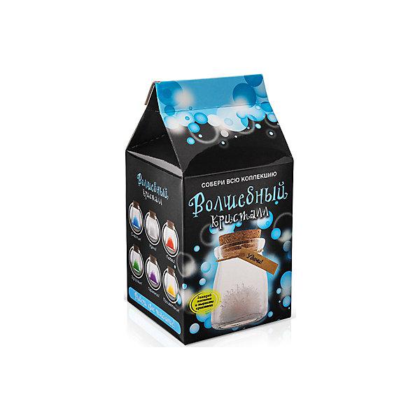 Набор для выращивания кристалов Кристалл с пожеланием Удачи БумбарамВыращивание кристаллов<br>Кристалл с пожеланием Удачи, Бумбарам.<br><br>Характеристики:<br><br>• кристалл в красивой подарочной упаковке<br>• этикетка с пожеланием<br>• легко создать<br>• безопасные материалы<br>• пошаговая инструкция<br>• в наборе: баночка, кристаллический порошок, кристаллическая таблетка, • палочка, веревочка, пробка, карточка, инструкция<br>• размер упаковки: 15х8 см<br>• вес: 250 грамм<br>• цвет: белый<br><br>Хотите создать оригинальный подарок своими руками? Кристалл с пожеланием Удачи отлично справится с этой задачей. Этот набор безопасен и очень прост в использовании. Всыпьте порошок в баночку, добавьте воды, тщательно перемешайте и опустите в готовый раствор таблетку. Через 14 часов можно открыть крышку и уже через некоторое время прекрасная композиция будет готова. Вам останется только закрыть крышку и прикрепить веревочку с карточкой. Химический опыт закончен - прекрасный подарок готов!<br><br>Кристалл с пожеланием Удачи, Бумбарам вы можете купить в нашем интернет-магазине.<br>Ширина мм: 75; Глубина мм: 75; Высота мм: 150; Вес г: 250; Возраст от месяцев: 168; Возраст до месяцев: 240; Пол: Унисекс; Возраст: Детский; SKU: 5053938;