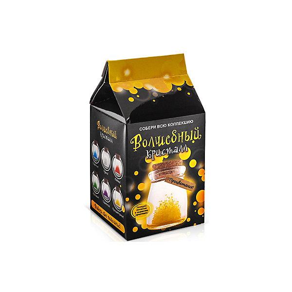 Набор для выращивания кристалов Кристалл с пожеланием Процветания БумбарамВыращивание кристаллов<br>Кристалл с пожеланием Процветания, Бумбарам.<br><br>Характеристики:<br><br>• кристалл в красивой подарочной упаковке<br>• этикетка с пожеланием<br>• легко создать<br>• безопасные материалы<br>• пошаговая инструкция<br>• в наборе: баночка, кристаллический порошок, кристаллическая таблетка, • палочка, веревочка, пробка, карточка, инструкция<br>• размер упаковки: 15х8 см<br>• вес: 250 грамм<br>• цвет: желтый<br><br>Хотите создать оригинальный подарок своими руками? Кристалл с пожеланием Процветания отлично справится с этой задачей. Этот набор безопасен и очень прост в использовании. Всыпьте порошок в баночку, добавьте воды, тщательно перемешайте и опустите в готовый раствор таблетку. Через 14 часов можно открыть крышку и уже через некоторое время прекрасная композиция будет готова. Вам останется только закрыть крышку и прикрепить веревочку с карточкой. Химический опыт закончен - прекрасный подарок готов!<br><br>Кристалл с пожеланием Процветания, Бумбарам вы можете купить в нашем интернет-магазине.<br><br>Ширина мм: 75<br>Глубина мм: 75<br>Высота мм: 150<br>Вес г: 250<br>Возраст от месяцев: 168<br>Возраст до месяцев: 240<br>Пол: Унисекс<br>Возраст: Детский<br>SKU: 5053939