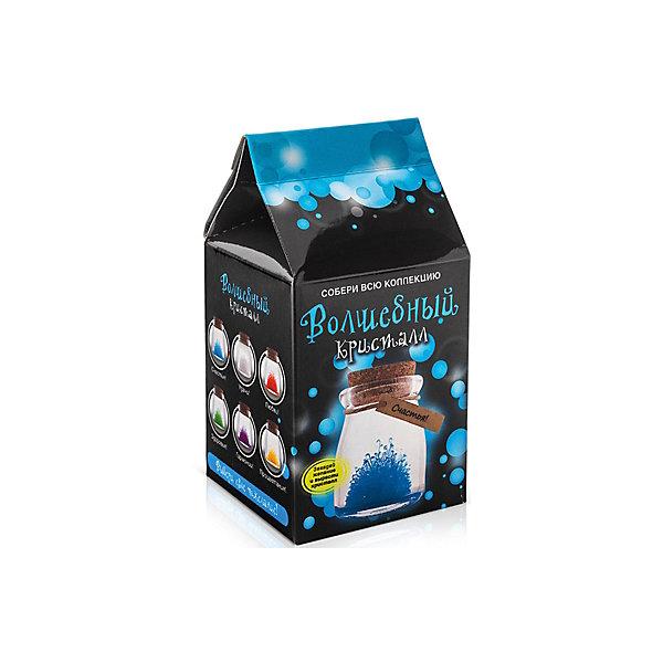 Набор для выращивания кристалов Кристалл с пожеланием Счастья БумбарамВыращивание кристаллов<br>Кристалл с пожеланием Счастья, Бумбарам.<br><br>Характеристики:<br><br>• кристалл в красивой подарочной упаковке<br>• этикетка с пожеланием<br>• легко создать<br>• безопасные материалы<br>• пошаговая инструкция<br>• в наборе: баночка, кристаллический порошок, кристаллическая таблетка, • палочка, веревочка, пробка, карточка, инструкция<br>• размер упаковки: 15х8 см<br>• вес: 250 грамм<br>• цвет: синий<br><br>Хотите создать оригинальный подарок своими руками? Кристалл с пожеланием Счастья отлично справится с этой задачей. Этот набор безопасен и очень прост в использовании. Всыпьте порошок в баночку, добавьте воды, тщательно перемешайте и опустите в готовый раствор таблетку. Через 14 часов можно открыть крышку и уже через некоторое время прекрасная композиция будет готова. Вам останется только закрыть крышку и прикрепить веревочку с карточкой. Химический опыт закончен - прекрасный подарок готов!<br><br>Кристалл с пожеланием Счастья, Бумбарам вы можете купить в нашем интернет-магазине.<br>Ширина мм: 75; Глубина мм: 75; Высота мм: 150; Вес г: 250; Возраст от месяцев: 168; Возраст до месяцев: 240; Пол: Унисекс; Возраст: Детский; SKU: 5053940;