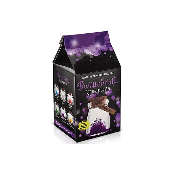 Набор для выращивания кристаллов Кристалл с пожеланием Гармонии БумбарамВыращивание кристаллов<br>Кристалл с пожеланием Гармонии, Бумбарам.<br><br>Характеристики:<br><br>• кристалл в красивой подарочной упаковке<br>• этикетка с пожеланием<br>• легко создать<br>• безопасные материалы<br>• пошаговая инструкция<br>• в наборе: баночка, кристаллический порошок, кристаллическая таблетка, палочка, веревочка, пробка, карточка, инструкция<br>• размер упаковки: 15х8 см<br>• вес: 250 грамм<br>• цвет: фиолетовый<br><br>Хотите создать оригинальный подарок своими руками? Кристалл с пожеланием Гармонии отлично справится с этой задачей. Этот набор безопасен и очень прост в использовании. Всыпьте порошок в баночку, добавьте воды, тщательно перемешайте и опустите в готовый раствор таблетку. Через 14 часов можно открыть крышку и уже через некоторое время прекрасная композиция будет готова. Вам останется только закрыть крышку и прикрепить веревочку с карточкой. Химический опыт закончен - прекрасный подарок готов!<br><br>Кристалл с пожеланием Гармонии, Бумбарам вы можете купить в нашем интернет-магазине.<br>Ширина мм: 75; Глубина мм: 75; Высота мм: 150; Вес г: 250; Возраст от месяцев: 168; Возраст до месяцев: 240; Пол: Унисекс; Возраст: Детский; SKU: 5053942;