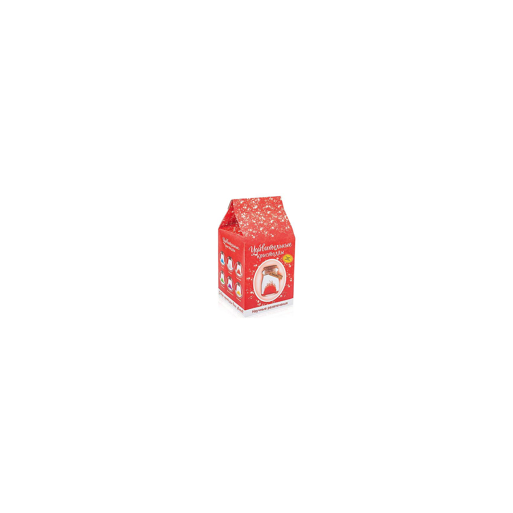 Набор для выращивания кристаллов Удивительный кристалл - Красный БумбарамУдивительный кристалл - Красный, Бумбарам<br><br>Характеристики:<br><br>• прост в использовании<br>• пошаговая инструкция<br>• безопасные материалы<br>• привлекательная упаковка <br>• можно следить за процессом<br>• в наборе: баночка, кристаллический порошок, кристаллическая таблетка, палочка, веревочка, пробка, карточка, инструкция<br>• размер упаковки: 15х8 см<br>• вес: 250 грамм<br>• цвет: синий<br><br>Удивительный кристалл - набор для творчества. Он хорошо развивает усидчивость и внимательность. С его помощью ребенок сможет сделать прекрасный подарок своими руками. Инструкция очень проста: нужно налить воды в баночку, добавить в нее порошок и тщательно перемешать. Затем положить волшебную таблетку и закрыть баночку крышкой. Через несколько часов можно снять крышку. Через 14-20 дней волшебный кристалл готов! Готовая композиция особенно красиво смотрится под лампой. Удивительный кристалл - прекрасный выбор для начинающего алхимика!<br><br>Удивительный кристалл - Красный, Бумбарам вы можете приобрести в нашем интернет-магазине.<br><br>Ширина мм: 75<br>Глубина мм: 75<br>Высота мм: 150<br>Вес г: 250<br>Возраст от месяцев: 168<br>Возраст до месяцев: 240<br>Пол: Унисекс<br>Возраст: Детский<br>SKU: 5053952