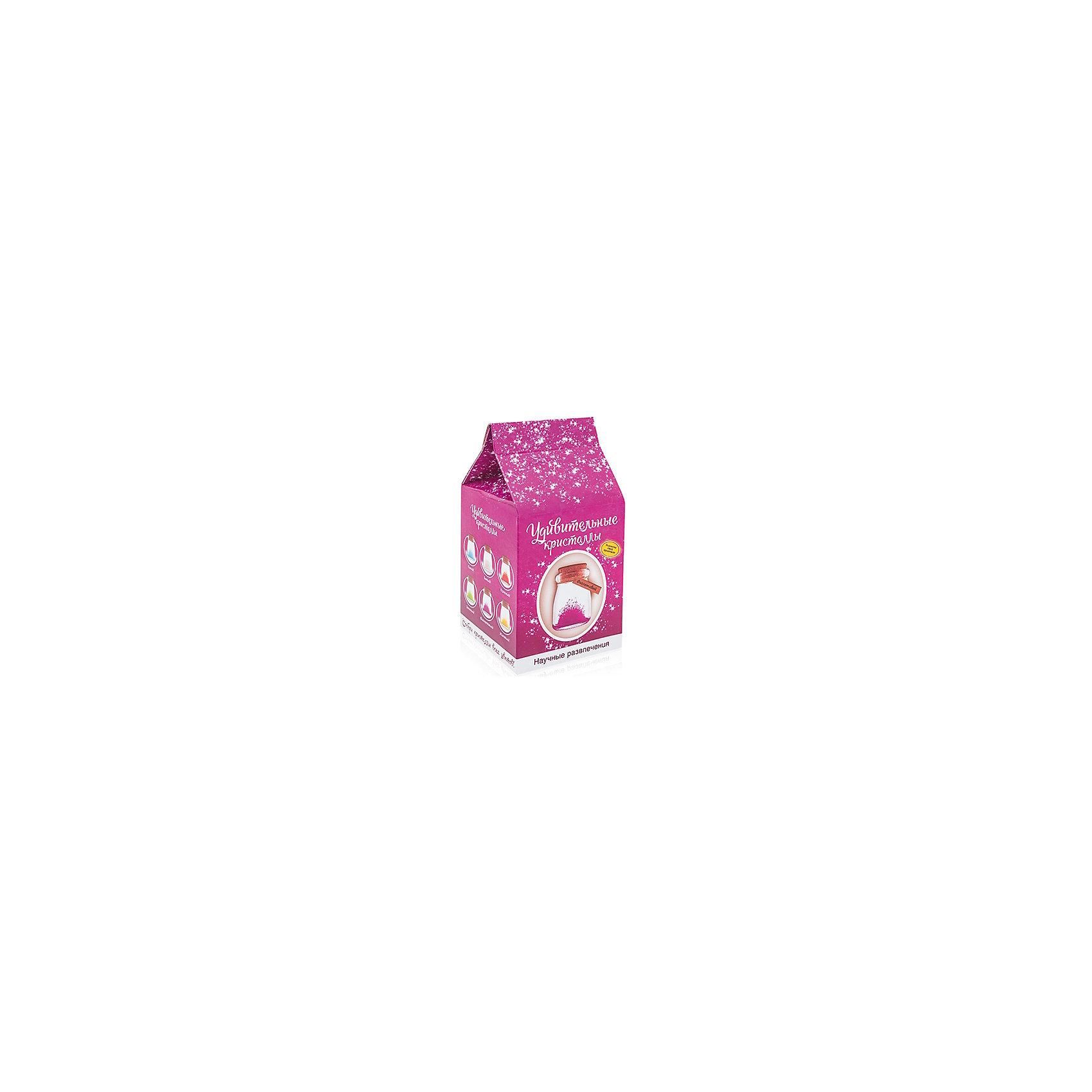 Набор для выращивания кристаллос Удивительный кристалл - Фиолетовый БумбарамВыращивание кристаллов<br>Удивительный кристалл - Фиолетовый, Бумбарам<br><br>Характеристики:<br><br>• прост в использовании<br>• пошаговая инструкция<br>• безопасные материалы<br>• привлекательная упаковка <br>• можно следить за процессом<br>• в наборе: баночка, кристаллический порошок, кристаллическая таблетка, палочка, веревочка, пробка, карточка, инструкция<br>• размер упаковки: 15х8 см<br>• вес: 250 грамм<br>• цвет: синий<br><br>Удивительный кристалл - набор для творчества. Он хорошо развивает усидчивость и внимательность. С его помощью ребенок сможет сделать прекрасный подарок своими руками. Инструкция очень проста: нужно налить воды в баночку, добавить в нее порошок и тщательно перемешать. Затем положить волшебную таблетку и закрыть баночку крышкой. Через несколько часов можно снять крышку. Через 14-20 дней волшебный кристалл готов! Готовая композиция особенно красиво смотрится под лампой. Удивительный кристалл - прекрасный выбор для начинающего алхимика!<br><br>Удивительный кристалл - Фиолетовый, Бумбарам вы можете приобрести в нашем интернет-магазине.<br><br>Ширина мм: 75<br>Глубина мм: 75<br>Высота мм: 150<br>Вес г: 250<br>Возраст от месяцев: 168<br>Возраст до месяцев: 240<br>Пол: Унисекс<br>Возраст: Детский<br>SKU: 5053954