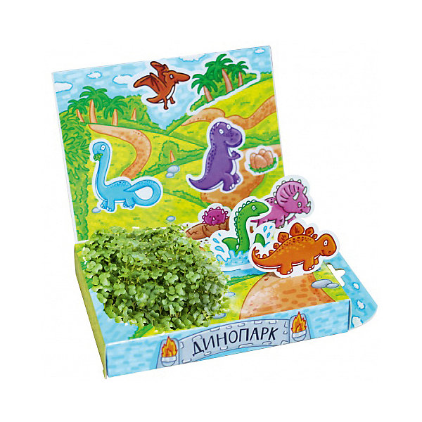 Набор для выращивания Живая открытка - Динопарк Happy PlantДетские открытки<br>Подарочный набор Живая открытка Динопарк, Happy Plant.<br><br>Характеристики:<br><br>• ребенок сможет самостоятельно украсить пейзаж травкой<br>• прост в использовании<br>• безопасен для ребенка<br>• яркий дизайн <br>• развивает внимательность и усидчивость<br>• в комплекте: открытка, фигурки, емкость для растений, наклейки, агроткань, семена, инструкция<br>• размер упаковки: 13х8х2,5 см<br>• вес: 30 грамм<br>• материалы: бумага, картон, агроткань, семена<br><br>Набор Живая открытка Динопарк идеально подойдет любителям динозавров. С его помощью ребенок сможет украсить открытку настоящими растениями. Процесс преображения очень прост. Нужно намочить агроткань, посадить семена и полить их. Поставьте открытку в теплое светлое место, и через несколько дней на ней вырастет настоящая травка. Это набор станет прекрасным подарком любознательным экспериментаторам!<br><br>Подарочный набор Живая открытка Динопарк, Happy Plant вы можете купить в нашем интернет-магазине.<br><br>Ширина мм: 175<br>Глубина мм: 115<br>Высота мм: 25<br>Вес г: 30<br>Возраст от месяцев: 168<br>Возраст до месяцев: 240<br>Пол: Унисекс<br>Возраст: Детский<br>SKU: 5053957