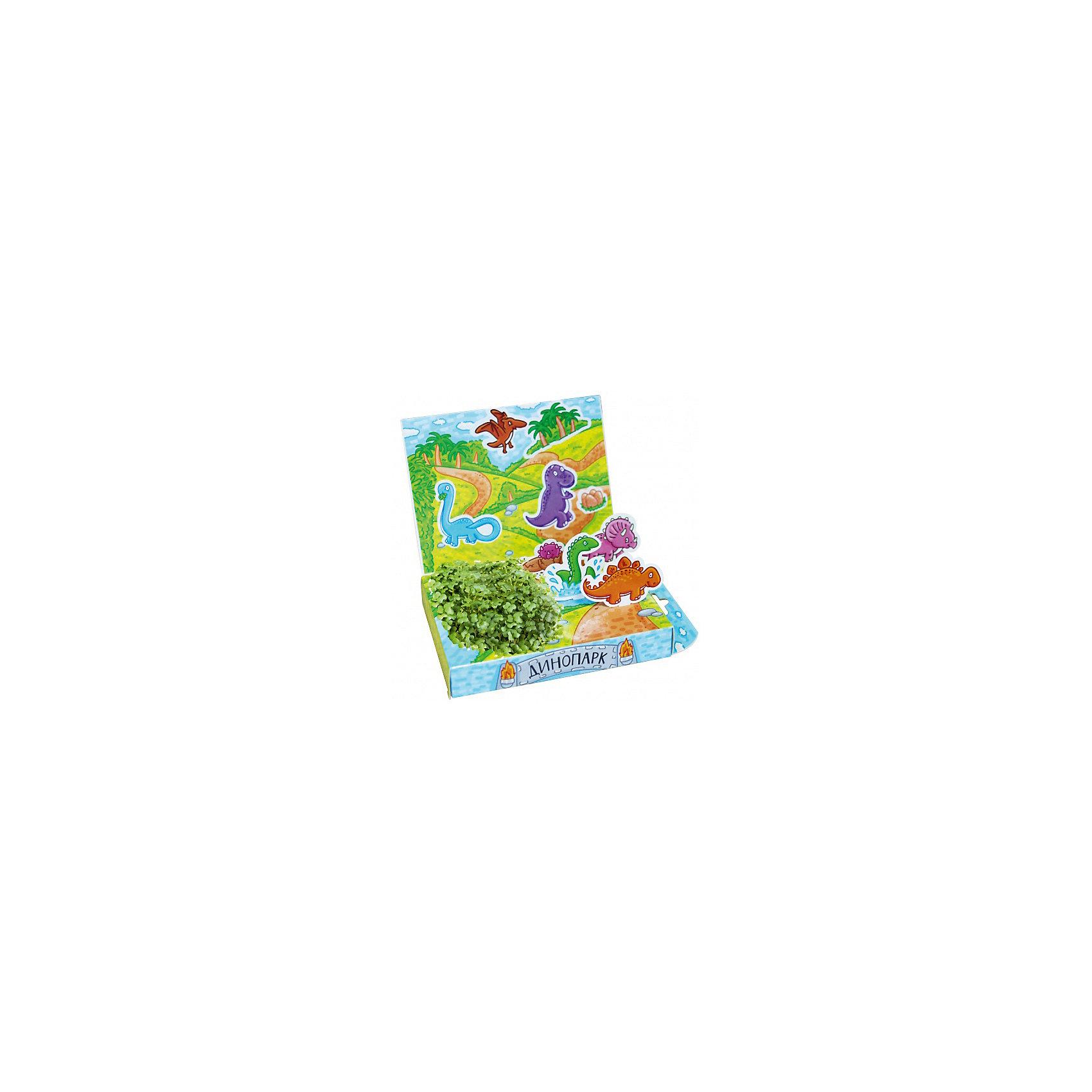 Набор для выращивания Живая открытка - Динопарк Happy PlantПодарочный набор Живая открытка Динопарк, Happy Plant.<br><br>Характеристики:<br><br>• ребенок сможет самостоятельно украсить пейзаж травкой<br>• прост в использовании<br>• безопасен для ребенка<br>• яркий дизайн <br>• развивает внимательность и усидчивость<br>• в комплекте: открытка, фигурки, емкость для растений, наклейки, агроткань, семена, инструкция<br>• размер упаковки: 13х8х2,5 см<br>• вес: 30 грамм<br>• материалы: бумага, картон, агроткань, семена<br><br>Набор Живая открытка Динопарк идеально подойдет любителям динозавров. С его помощью ребенок сможет украсить открытку настоящими растениями. Процесс преображения очень прост. Нужно намочить агроткань, посадить семена и полить их. Поставьте открытку в теплое светлое место, и через несколько дней на ней вырастет настоящая травка. Это набор станет прекрасным подарком любознательным экспериментаторам!<br><br>Подарочный набор Живая открытка Динопарк, Happy Plant вы можете купить в нашем интернет-магазине.<br><br>Ширина мм: 175<br>Глубина мм: 115<br>Высота мм: 25<br>Вес г: 30<br>Возраст от месяцев: 168<br>Возраст до месяцев: 240<br>Пол: Унисекс<br>Возраст: Детский<br>SKU: 5053957