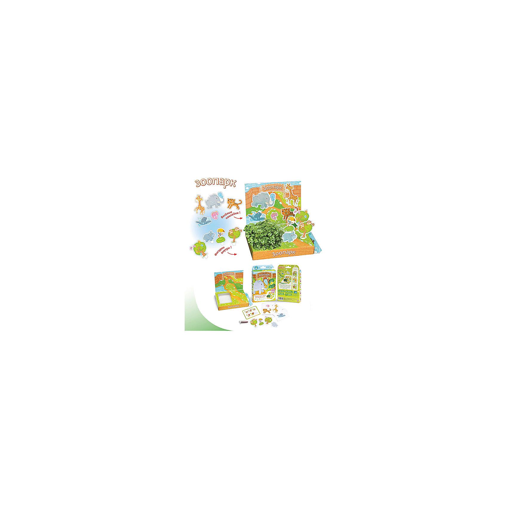 Набор для выращивания Зоопарк Happy PlantВыращивание растений<br>Детский развивающий набор для выращивания Зоопарк, Happy Plant.<br><br>Характеристики:<br><br>• возможность вырастить настоящую травку, не выходя из дома<br>• прост в использовании<br>• подходит в качестве подарка<br>• безопасные материалы<br>• гарантия качества<br>• в комплекте: наклейки, 3 фигурки, семена, контейнер для растений, агроткань<br>• размер упаковки: 15х11х2,5 см<br>• вес: 30 грамм<br><br>Набор Зоопарк познакомит ребенка с животными и поможет ему украсить вольеры настоящей травой. Для этого достаточно посадить семена на смоченную агроткань, полить их и подождать несколько дней. Совсем скоро вы увидите первые росточки, которые непременно понравятся малышу. Этот набор научит ребенка ухаживать за растениями и бережно относиться к ним.<br><br>Детский развивающий набор для выращивания Зоопарк, Happy Plant можно купить в нашем интернет-магазине.<br><br>Ширина мм: 175<br>Глубина мм: 115<br>Высота мм: 25<br>Вес г: 30<br>Возраст от месяцев: 168<br>Возраст до месяцев: 240<br>Пол: Унисекс<br>Возраст: Детский<br>SKU: 5053966