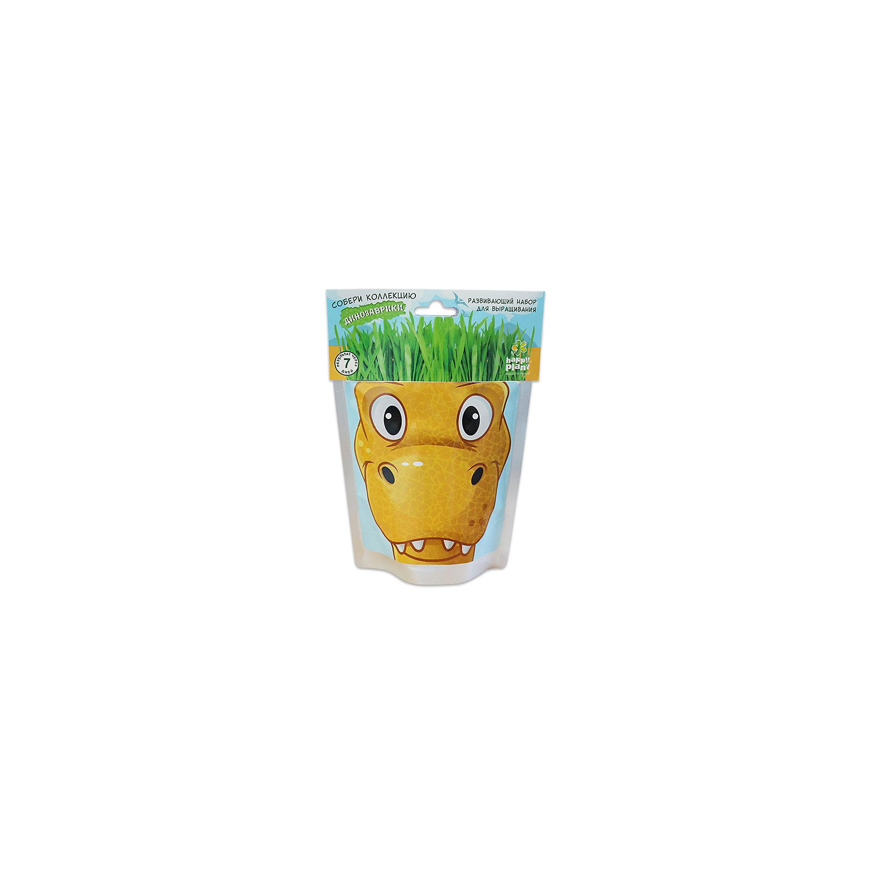 Набор для выращивания Динозаврики - Рекси Happy PlantНаборы для выращивания растений<br>Happy Plant Динозаврик Рекси.<br><br>Характеристики:<br><br>• научит ребенка выращивать растения и ухаживать за ними<br>• развивает фантазию <br>• яркий оригинальный дизайн<br>• качественные семена<br>• в комплекте: пакет-горшочек, органический субстрат для посадки, семена, лопатка, инструкция<br>• размер: 18х13 см<br>• объем: 500 мл<br>• Вес: 230 грамм<br><br>Веселый динозаврик Рекси научит ребенка выращивать растения и ухаживать за ними. Волосы-травка получается очень густая. Благодаря этому вы сможете подстригать динозаврика и делать ему различные прически. Прекрасный подарок юным садоводам!<br><br>Happy Plant Динозаврик Рекси, Вы можете купить в нашем интернет-магазине.<br><br>Ширина мм: 180<br>Глубина мм: 130<br>Высота мм: 80<br>Вес г: 230<br>Возраст от месяцев: 168<br>Возраст до месяцев: 240<br>Пол: Унисекс<br>Возраст: Детский<br>SKU: 5053999
