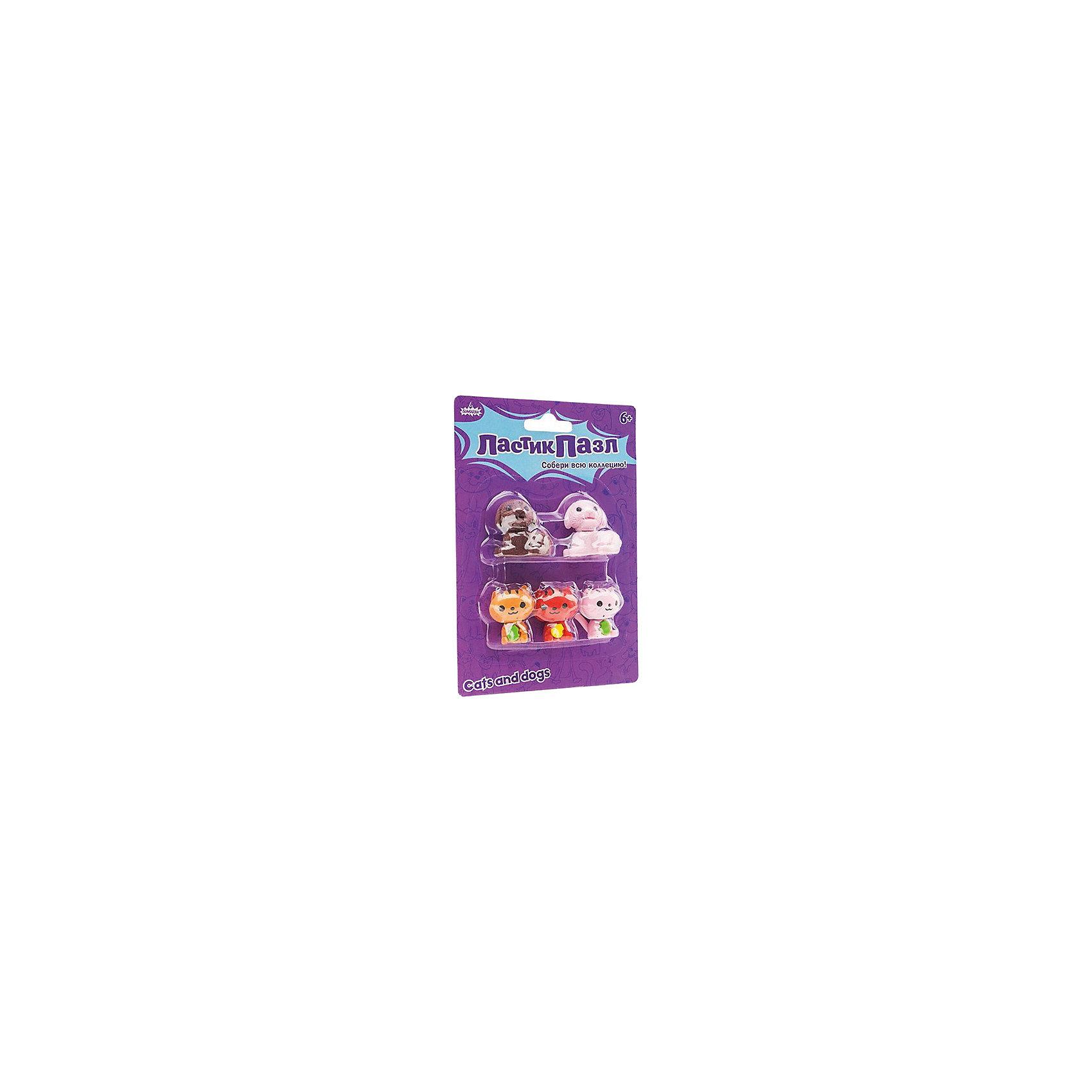 Бумбарам Набор фигурных ластиков Ластик-Пазл - Домашние любимцы Бумбарам бумбарам набор ластик пазл кухня бумбарам