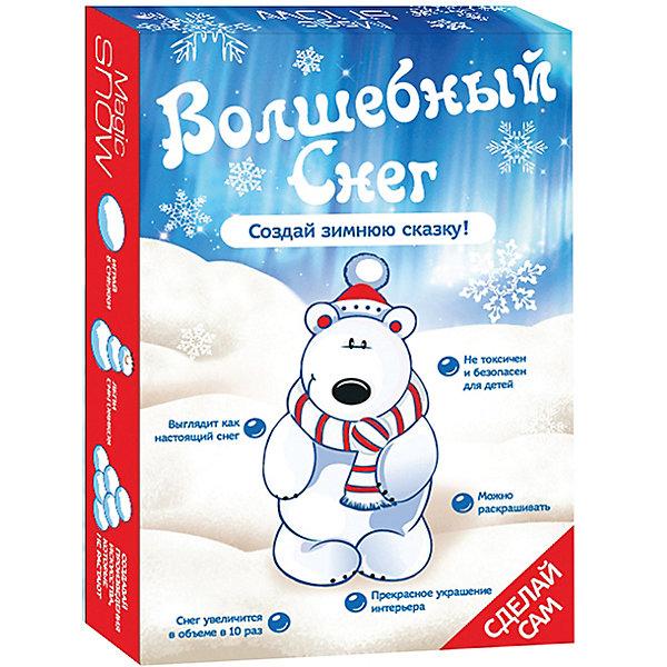 Волшебный снег Создай зимнюю сказку - Мишка БумбарамЁлочные игрушки<br>Волшебный снег Мишка, Бумбарам.<br><br>Характеристики:<br><br>• очень похож на настоящий снег<br>• подходит для украшения помещения<br>• можно красить <br>• полностью безопасен<br>• в комплекте: 4 пакетика порошка, лопатка, инструкция<br>• материал: полимер<br>• размер упаковки: 10х7х2 см <br>• вес: 45 грамм<br><br>Волшебный снег Мишка поможет создать настоящую зимнюю атмосферу в доме. Искусственный снег почти не отличается от настоящего: он влажный, рассыпчатый и прохладный. Для приготовления нужно добавить воду в порошок и тщательно перемешать. Получившимся снегом можно украсить помещение, елочку или новогодние сувениры.<br><br>Волшебный снег Мишка, Бумбарам вы можете купить в нашем интернет-магазине.<br><br>Ширина мм: 100<br>Глубина мм: 70<br>Высота мм: 20<br>Вес г: 45<br>Возраст от месяцев: 168<br>Возраст до месяцев: 240<br>Пол: Унисекс<br>Возраст: Детский<br>SKU: 5054031