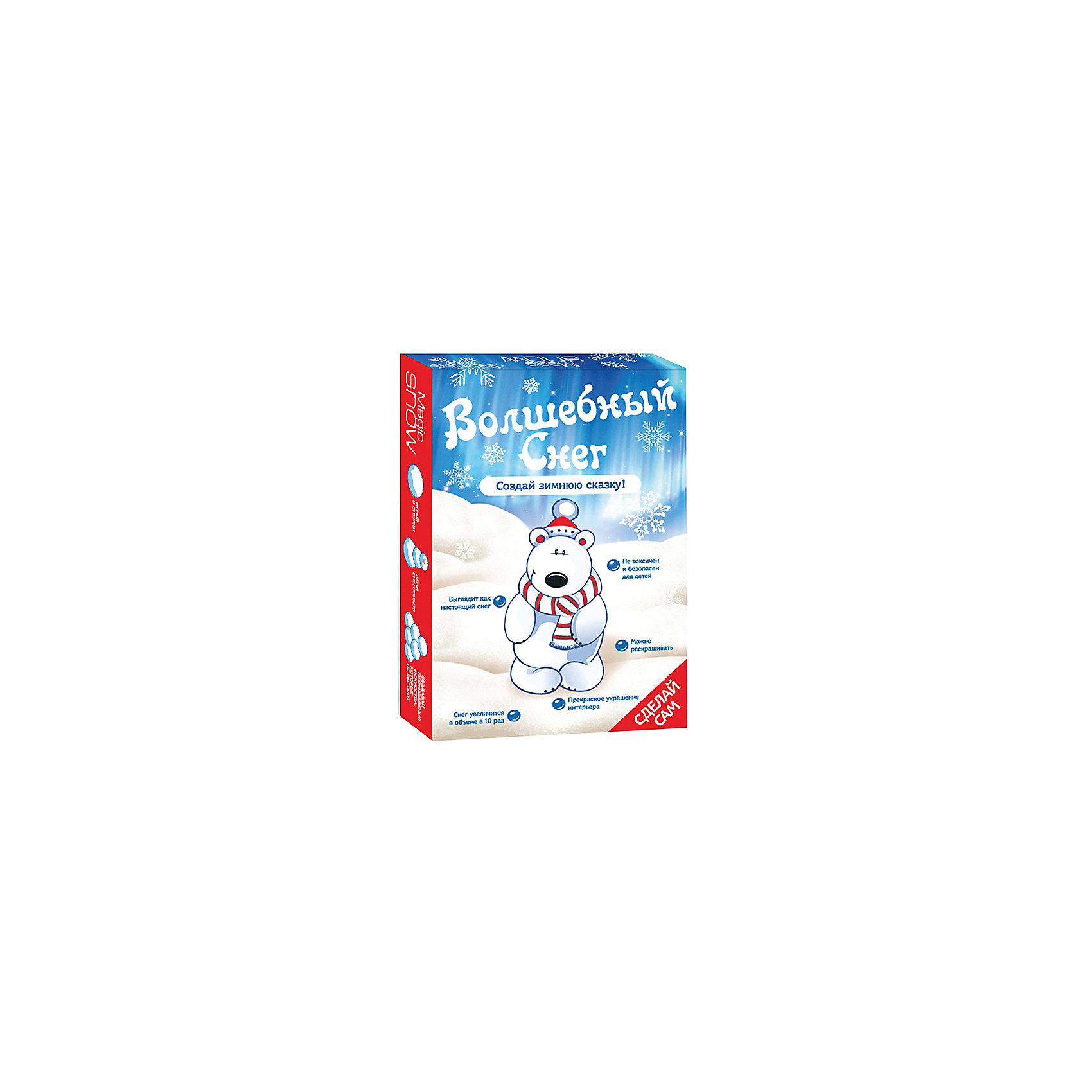 Волшебный снег Создай зимнюю сказку - Мишка БумбарамВсё для праздника<br>Волшебный снег Мишка, Бумбарам.<br><br>Характеристики:<br><br>• очень похож на настоящий снег<br>• подходит для украшения помещения<br>• можно красить <br>• полностью безопасен<br>• в комплекте: 4 пакетика порошка, лопатка, инструкция<br>• материал: полимер<br>• размер упаковки: 10х7х2 см <br>• вес: 45 грамм<br><br>Волшебный снег Мишка поможет создать настоящую зимнюю атмосферу в доме. Искусственный снег почти не отличается от настоящего: он влажный, рассыпчатый и прохладный. Для приготовления нужно добавить воду в порошок и тщательно перемешать. Получившимся снегом можно украсить помещение, елочку или новогодние сувениры.<br><br>Волшебный снег Мишка, Бумбарам вы можете купить в нашем интернет-магазине.<br><br>Ширина мм: 100<br>Глубина мм: 70<br>Высота мм: 20<br>Вес г: 45<br>Возраст от месяцев: 168<br>Возраст до месяцев: 240<br>Пол: Унисекс<br>Возраст: Детский<br>SKU: 5054031