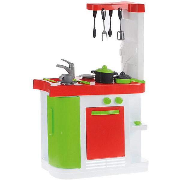 Кухня, 82 смДетские кухни<br>Кухня, 82 см<br><br>Характеристики:<br><br>- Материал: пластик<br>- В комплект входит: кухонный модуль, посуда<br>- Размер упаковки: 60 * 25 * 49 см.<br>- Размер собранного модуля: 82,5 * 26 * 55 см.<br>- Вес: 4,3 кг.<br><br>Яркая и современная кухня от испанской фирмы Palau Toys (Палау Тойс) - неотъемлемая часть игр в кухню и кулинарию. Эта функциональная кухня  состоит из всего необходимого и выглядит как современная кухонная стойка с верхней полочкой и держателем для посуды. Духовой шкаф открывается и имеет специальные ручки которые поворачиваются, четыре полочки с разных сторон отлично вмещают посуду, дверца встроенного холодильника тоже открывается. В комплект входит яркая посуда: кастрюля, сковорода, чашка, тарелка, ложка, вилка, нож, и приборы для готовки. С такой игрушкой ребенок сможет играть в домашнюю кухню или даже ресторан. Играя с кухней ребенок сможет развить воображение, моторику рук и социальные навыки за счет ситуацинно-ролевых игр.<br><br>Кухню, 82 см. можно купить в нашем интернет-магазине.<br>Ширина мм: 490; Глубина мм: 250; Высота мм: 600; Вес г: 4330; Возраст от месяцев: 36; Возраст до месяцев: 60; Пол: Унисекс; Возраст: Детский; SKU: 5054051;
