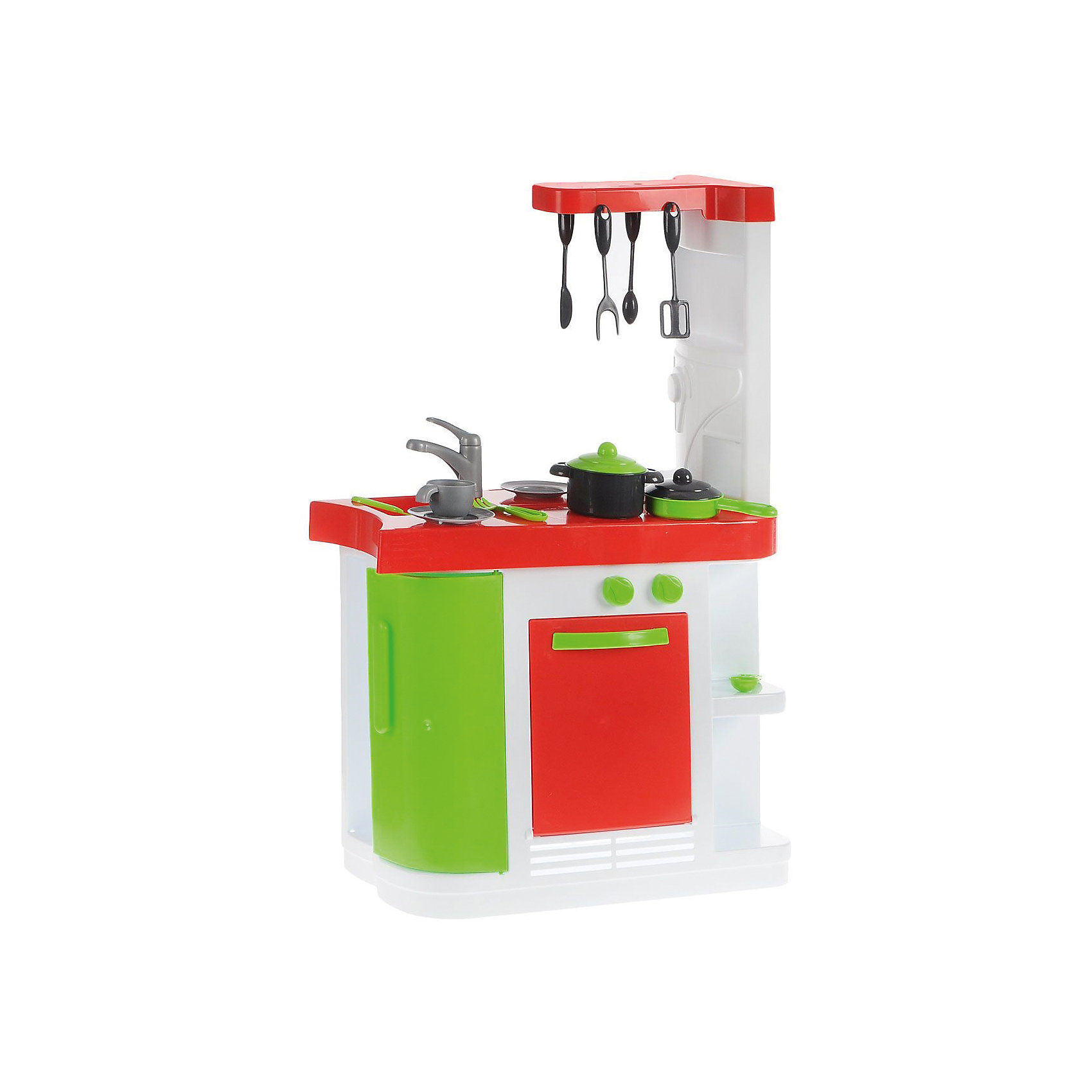Кухня, 82 смКухня, 82 см<br><br>Характеристики:<br><br>- Материал: пластик<br>- В комплект входит: кухонный модуль, посуда<br>- Размер упаковки: 60 * 25 * 49 см.<br>- Размер собранного модуля: 82,5 * 26 * 55 см.<br>- Вес: 4,3 кг.<br><br>Яркая и современная кухня от испанской фирмы Palau Toys (Палау Тойс) - неотъемлемая часть игр в кухню и кулинарию. Эта функциональная кухня  состоит из всего необходимого и выглядит как современная кухонная стойка с верхней полочкой и держателем для посуды. Духовой шкаф открывается и имеет специальные ручки которые поворачиваются, четыре полочки с разных сторон отлично вмещают посуду, дверца встроенного холодильника тоже открывается. В комплект входит яркая посуда: кастрюля, сковорода, чашка, тарелка, ложка, вилка, нож, и приборы для готовки. С такой игрушкой ребенок сможет играть в домашнюю кухню или даже ресторан. Играя с кухней ребенок сможет развить воображение, моторику рук и социальные навыки за счет ситуацинно-ролевых игр.<br><br>Кухню, 82 см. можно купить в нашем интернет-магазине.<br><br>Ширина мм: 490<br>Глубина мм: 250<br>Высота мм: 600<br>Вес г: 4330<br>Возраст от месяцев: 36<br>Возраст до месяцев: 60<br>Пол: Унисекс<br>Возраст: Детский<br>SKU: 5054051
