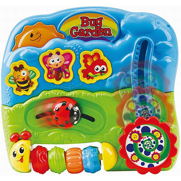 Развивающая игрушка Сад букашек, PlaygoРазвивающие центры<br>Развивающая игрушка Сад букашек, Playgo<br><br>Характеристики:<br>- Материал: пластик<br>- В комплект входит: игрушка, батарейки 2шт. <br>- Элементы питания: батарейки АА<br>- Размер упаковки: 17 * 5 * 17 см.<br>- Вес: 430 гр.<br>Сад букашек от известного китайского бренда развивающих игрушек для детей Playgo (Плейго) станет прекрасным подарком для крохи. Божья коровка, пчелка, бабочка, гусеничка и птичка в своей обычной среде обитания рады провести время с малышом. Колесо с цветочками крутится и двигается вверх-вниз, а нажимая на кнопочки можно послушать песенки и услышать разные звуки. Кроме того, на пластиковой гусенице имеются рельефные двигающиеся цветные колечки. Изготовленная из качественного пластика, яркая игрушка поможет развить тактильные ощущения, звуковое восприятие, воображение, световое восприятие и моторику ручек. Небольшой размер позволит брать веселую игрушку на прогулку или в поездку.<br>Развивающую игрушку Сад букашек, Playgo (Плейго) можно купить в нашем интернет-магазине.<br>Подробнее:<br>• Для детей в возрасте: от 6 до 24 месяцев <br>• Номер товара: 5054056<br>Страна производитель: Китай<br>Ширина мм: 210; Глубина мм: 200; Высота мм: 55; Вес г: 430; Возраст от месяцев: 6; Возраст до месяцев: 24; Пол: Унисекс; Возраст: Детский; SKU: 5054056;