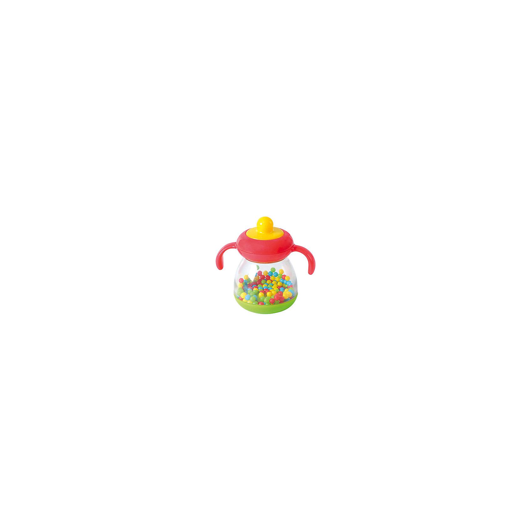 Развивающая игрушка Бутылочка c шариками, PlaygoРазвивающие игрушки<br>Развивающая игрушка Бутылочка c шариками, Playgo<br><br>Характеристики:<br>- Материал: пластик<br>- В комплект входит: игрушка <br>- Размер упаковки: 16 * 6 * 18 см.<br>- Вес: 120 гр.<br>Игрушка бутылочка с шариками от известного китайского бренда развивающих игрушек для детей Playgo (Плейго) станет прекрасным подарком для крохи. Маленькие цветные шарики прыгают во все стороны и гремят как погремушка, если потрясти бутылочку. Прочный противоударный высококачественный пластик прослужит долго, а сама игрушка поможет развить тактильные ощущения, звуковое восприятие, воображение, световое восприятие и моторику ручек. Небольшой размер позволит брать веселую игрушку на прогулку или в поездку.<br>Развивающую игрушку Бутылочка c шариками, Playgo (Плейго) можно купить в нашем интернет-магазине.<br>Подробнее:<br>• Для детей в возрасте: от 0 до 18 месяцев <br>• Номер товара: 5054061<br>Страна производитель: Китай<br><br>Ширина мм: 150<br>Глубина мм: 150<br>Высота мм: 60<br>Вес г: 130<br>Возраст от месяцев: 6<br>Возраст до месяцев: 24<br>Пол: Унисекс<br>Возраст: Детский<br>SKU: 5054061