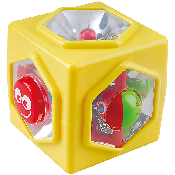 Развивающая игрушка Куб  5 в 1, PlaygoРазвивающие центры<br>Развивающая игрушка Куб  5 в 1, Playgo<br><br>Характеристики:<br>- Материал: пластик<br>- Размер: 10 * 10 * 11,5 см.<br>Куб 5 в 1 от известного китайского бренда развивающих игрушек для детей Playgo (Плейго) станет прекрасным подарком для крохи. Целых пять сторон веселья предоставляет этот куб. Кнопочки, переключатели, зеркала и отражатели позволят развить логическое мышление в ходе решения этих загадок. Изготовленная из качественного пластика, разноцветная игрушка способствует развитию тактильных ощущений, звукового восприятия, воображения, светового восприятия и моторики ручек. Небольшой размер позволит брать эту игрушку на прогулку и в поездку.<br>Развивающую игрушку  Куб  5 в 1, Playgo (Плейго) можно купить в нашем интернет-магазине.<br>Подробнее:<br>• Для детей в возрасте: от 6 до 24 месяцев <br>• Номер товара: 5054063<br>Страна производитель: Китай<br>Ширина мм: 140; Глубина мм: 140; Высота мм: 130; Вес г: 290; Возраст от месяцев: 12; Возраст до месяцев: 36; Пол: Унисекс; Возраст: Детский; SKU: 5054063;