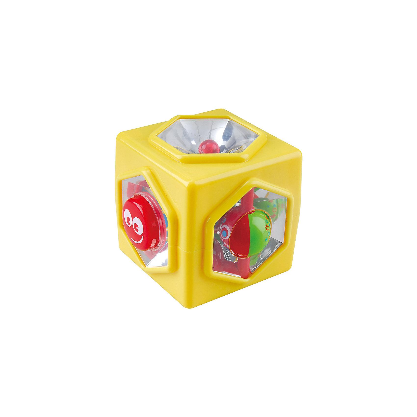 Развивающая игрушка Куб  5 в 1, PlaygoРазвивающие игрушки<br>Развивающая игрушка Куб  5 в 1, Playgo<br><br>Характеристики:<br>- Материал: пластик<br>- Размер: 10 * 10 * 11,5 см.<br>Куб 5 в 1 от известного китайского бренда развивающих игрушек для детей Playgo (Плейго) станет прекрасным подарком для крохи. Целых пять сторон веселья предоставляет этот куб. Кнопочки, переключатели, зеркала и отражатели позволят развить логическое мышление в ходе решения этих загадок. Изготовленная из качественного пластика, разноцветная игрушка способствует развитию тактильных ощущений, звукового восприятия, воображения, светового восприятия и моторики ручек. Небольшой размер позволит брать эту игрушку на прогулку и в поездку.<br>Развивающую игрушку  Куб  5 в 1, Playgo (Плейго) можно купить в нашем интернет-магазине.<br>Подробнее:<br>• Для детей в возрасте: от 6 до 24 месяцев <br>• Номер товара: 5054063<br>Страна производитель: Китай<br><br>Ширина мм: 140<br>Глубина мм: 140<br>Высота мм: 130<br>Вес г: 290<br>Возраст от месяцев: 12<br>Возраст до месяцев: 36<br>Пол: Унисекс<br>Возраст: Детский<br>SKU: 5054063
