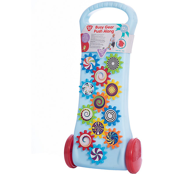 Каталка с шестеренками, PlaygoКаталки и качалки<br>Каталка с шестеренками, Playgo<br><br>Характеристики:<br>- Материал: пластик<br>- В комплект входит: 1 каталка<br>- Размер: 48 * 24 * 10 см. <br>Яркая каталка с шестеренками от известного китайского бренда развивающих игрушек для детей Playgo (Плейго) станет прекрасным подарком для крохи. Чтобы двенадцать цветных шестеренок задвигались ребенку нужно подвигать каталку. Нежный голубой цвет отлично сочетается с этими цветными детальками и придет по вкусу малышу. Наблюдая за работой шестеренок ребенок сможет развить логическое мышление, а катая игрушку развить координацию движения и крупную моторику. А играть с такой каталкой на улице еще веселее.<br>Каталку с шестеренками, Playgo (Плейго) можно купить в нашем интернет-магазине.<br>Подробнее:<br>• Для детей в возрасте: от 9 месяцев до 3 лет <br>• Номер товара: 5054064<br>Страна производитель: Китай<br>Ширина мм: 460; Глубина мм: 120; Высота мм: 230; Вес г: 590; Возраст от месяцев: 12; Возраст до месяцев: 36; Пол: Унисекс; Возраст: Детский; SKU: 5054064;