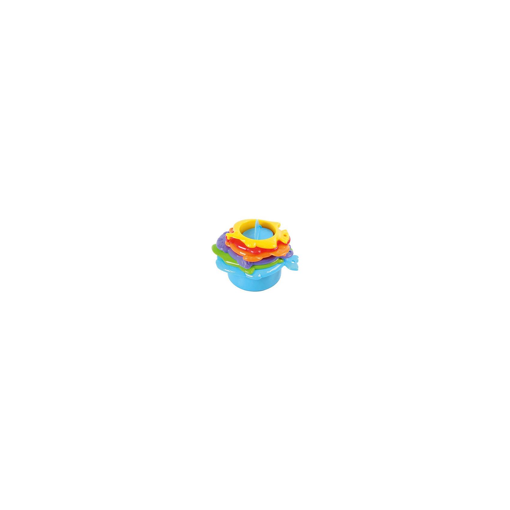 Игровой набор для ванной, PlaygoИгрушки для ванной<br>Игровой набор для ванной, Playgo<br><br>Характеристики:<br>- Материал: пластик<br>- В комплект входит: 6 предметов<br>- Размер: 22 * 7,5 * 15 см. <br>Игровой набор от известного китайского бренда развивающих игрушек для детей Playgo (Плейго) станет прекрасным подарком для крохи. Шесть веселых морских жителей с радостью будут проводить время в ванной вместе с малышом. Рыбки, черепашка и даже тюлень в разных цветовых гаммах помогут выучить цвета, а разные дизайны дна формочек будут выливать воду по-разному. Детали соединяются друг с другом и могут складываться большая в меньшую, как пирамидка. Игрушка способствует развитию логики, тактильных ощущений, воображения, светового восприятия и моторики ручек.<br>Игровой набор для ванной, Playgo (Плейго) можно купить в нашем интернет-магазине.<br>Подробнее:<br>• Для детей в возрасте: от 6 месяцев до 3 лет <br>• Номер товара: 5054065<br>Страна производитель: Китай<br><br>Ширина мм: 150<br>Глубина мм: 220<br>Высота мм: 70<br>Вес г: 250<br>Возраст от месяцев: 12<br>Возраст до месяцев: 36<br>Пол: Унисекс<br>Возраст: Детский<br>SKU: 5054065