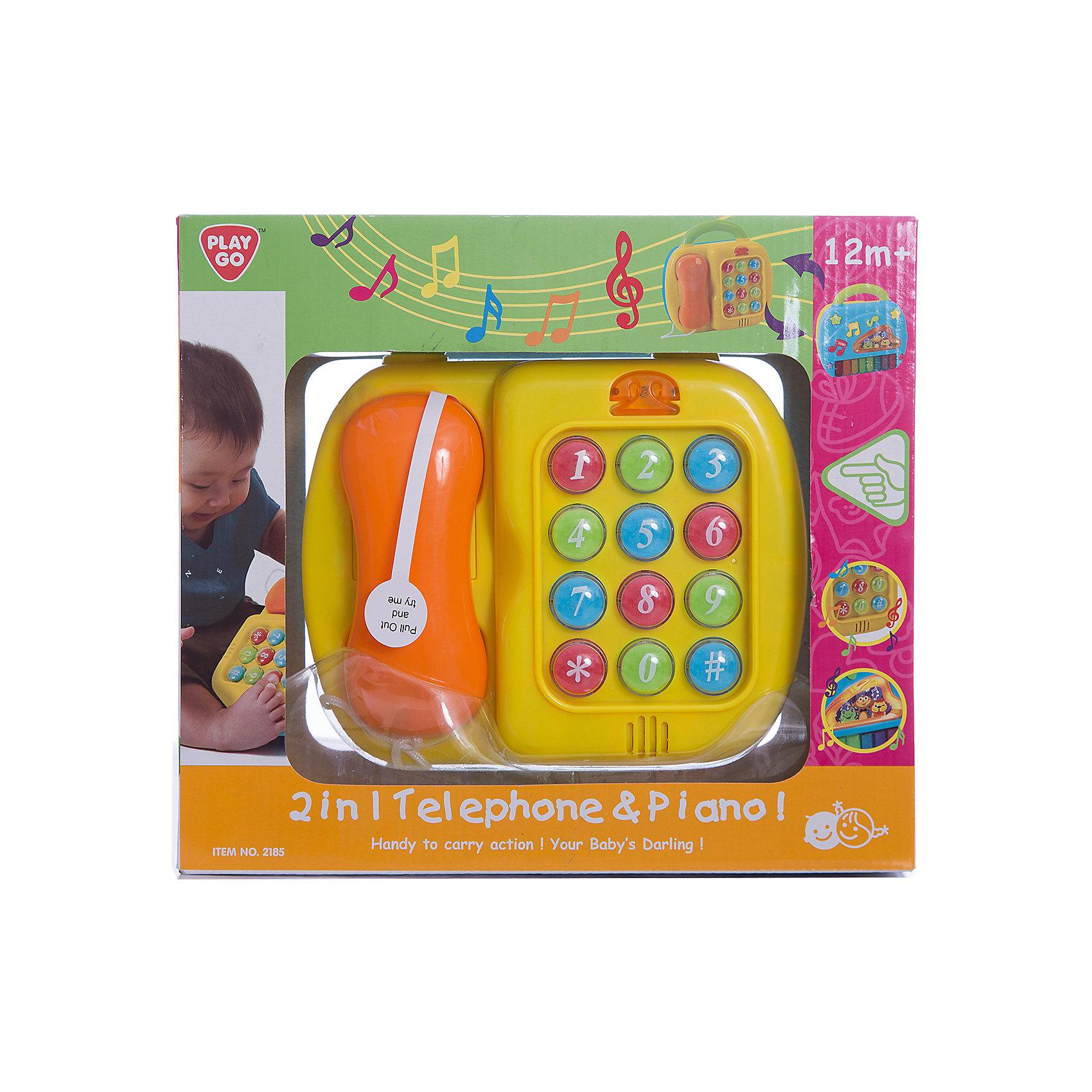 - Развивающий центр Телефон и пианино, Playgo игрушка s s toys bambini 2 в 1 развивающий телефон и пианино сс76752
