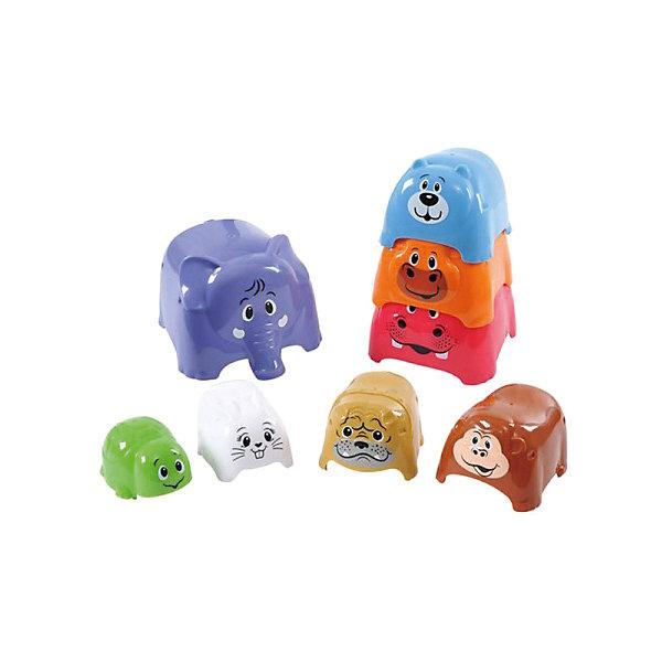 Игровой набор Формочки-животные, PlaygoРазвивающие игрушки<br>Игровой набор Формочки-животные, Playgo<br><br>Характеристики:<br>- В набор входит: 8 формочек<br>- Материал: пластик<br>- Размер самой большой формочки: 12 * 12 * 10 см.<br>- Вес: 500 гр.<br>Игровой набор Формочки-животные от известного китайского бренда развивающих игрушек для детей Playgo (Плейго) станет прекрасным подарком для крохи. Нестандартный вариант пирамидки развлечет ребенка и поможет ему выучить животных, играя с ними. Начиная от крошечной черепашки и до большого слона животные надеваются один на один и также легко складываются для удобного хранения. Изготовленная из качественного пластика, разноцветная игрушка способствует развитию логики, тактильных ощущений, воображения, цветового восприятия и моторики ручек. Небольшой размер позволит брать эту игрушку на прогулку, в песочницу и в поездку.<br>Игровой набор Формочки-животные, Playgo (Плейго) можно купить в нашем интернет-магазине.<br>Подробнее:<br>• Для детей в возрасте: от 12 до 36 месяцев<br>• Номер товара: 5054072<br>Страна производитель: Китай<br>Ширина мм: 240; Глубина мм: 240; Высота мм: 140; Вес г: 532; Возраст от месяцев: 12; Возраст до месяцев: 36; Пол: Унисекс; Возраст: Детский; SKU: 5054072;