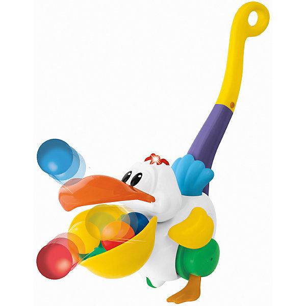 Игровая каталка с ручкой Пеликан-затейник, KiddielandКаталки и качалки<br>Игровая каталка с ручкой Пеликан-затейник, Kiddieland<br><br>Характеристики:<br>- В набор входит: каталка, элементы питания<br>- Материал: пластик<br>- Элементы питания: батарейки АА, 2 шт.<br>- Размер упаковки: 17 * 25 * 11 см.<br>Каталка Пеликан-затейник произведена известным китайским брендом производства игрушек Kiddieland (Киддилэнд) и станет малышу прекрасным подарком. Цветную каталку с красочной ручкой, закрученной в колечко очень удобно катать. Веселый пеликан машет крыльями во время движения, а цветные шарики выпрыгивают из его клюва. С такой каталкой ходить и бегать вдвойне веселее, также ее можно взять с собой и во двор на прогулку. Изготовленная из качественного пластика, разноцветная каталка поможет крохе развить координацию движения, восприятие звука и цвета, моторику рук, воображение.<br>Игровую каталку с ручкой Пеликан-затейник, Kiddieland (Киддилэнд) можно купить в нашем интернет-магазине.<br>Подробнее:<br>• Для детей в возрасте: от 1,5 до 2 лет<br>• Номер товара: 5054081<br>Страна производитель: Китай<br><br>Ширина мм: 270<br>Глубина мм: 210<br>Высота мм: 210<br>Вес г: 600<br>Возраст от месяцев: 12<br>Возраст до месяцев: 36<br>Пол: Унисекс<br>Возраст: Детский<br>SKU: 5054081