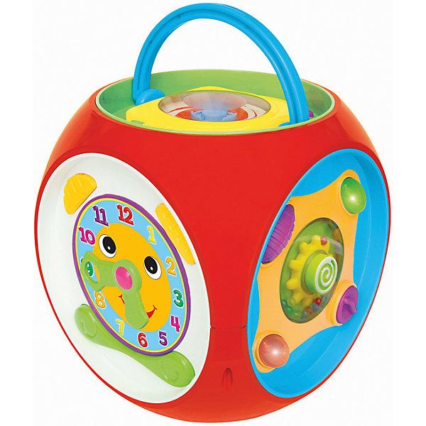 Развивающая игрушка Многофункциональный короб, KiddielandРазвивающие центры<br>Развивающая игрушка Многофункциональный короб, Kiddieland<br><br>Характеристики:<br>- В набор входит: короб, элементы питания<br>- Материал: пластик<br>- Элементы питания: батарейки АА, 3 шт.<br>- Размер упаковки: 15 * 26 * 36 см.<br>Развивающая игрушка Многофункциональный короб от известного китайского бренда игрушек для детей Kiddieland (Киддилэнд) будет прекрасным подарком для ребенка. Целых шесть сторон для развития и веселья! Озорной мышонок вылезает из норки, интерактивные часы, готовые научить понятию времени, животные, нажимая на которых можно услышать как они разговаривают, пианино с цветными клавишами, тканевые части и маленький плеер со специальным диском в комплекте. Ручка на коробе позволяет переносить его с удобством. Изготовленная из пластика высокого качества, разноцветная игрушка способствует развитию памяти, воображения, восприятия цвета и звука, социальных навыков, моторики рук.<br>Развивающую игрушку Многофункциональный короб, Kiddieland  (Киддилэнд) можно купить в нашем интернет-магазине.<br>Подробнее:<br>• Для детей в возрасте: от 1 до 3 лет<br>• Номер товара: 5054082<br>Страна производитель: Китай<br>Ширина мм: 220; Глубина мм: 220; Высота мм: 230; Вес г: 1400; Возраст от месяцев: 12; Возраст до месяцев: 36; Пол: Унисекс; Возраст: Детский; SKU: 5054082;