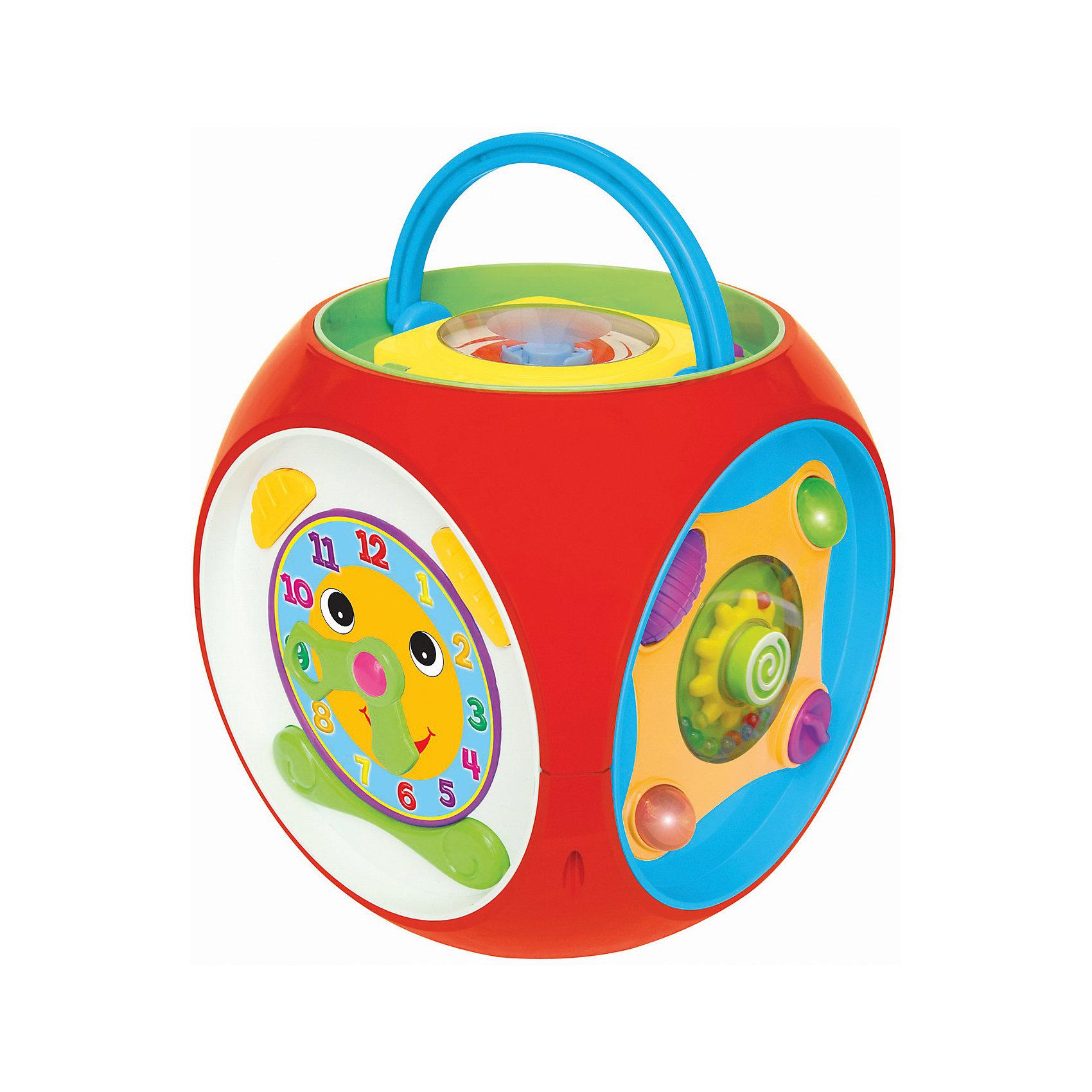 Развивающая игрушка Многофункциональный короб, KiddielandРазвивающая игрушка Многофункциональный короб, Kiddieland<br><br>Характеристики:<br>- В набор входит: короб, элементы питания<br>- Материал: пластик<br>- Элементы питания: батарейки АА, 3 шт.<br>- Размер упаковки: 15 * 26 * 36 см.<br>Развивающая игрушка Многофункциональный короб от известного китайского бренда игрушек для детей Kiddieland (Киддилэнд) будет прекрасным подарком для ребенка. Целых шесть сторон для развития и веселья! Озорной мышонок вылезает из норки, интерактивные часы, готовые научить понятию времени, животные, нажимая на которых можно услышать как они разговаривают, пианино с цветными клавишами, тканевые части и маленький плеер со специальным диском в комплекте. Ручка на коробе позволяет переносить его с удобством. Изготовленная из пластика высокого качества, разноцветная игрушка способствует развитию памяти, воображения, восприятия цвета и звука, социальных навыков, моторики рук.<br>Развивающую игрушку Многофункциональный короб, Kiddieland  (Киддилэнд) можно купить в нашем интернет-магазине.<br>Подробнее:<br>• Для детей в возрасте: от 1 до 3 лет<br>• Номер товара: 5054082<br>Страна производитель: Китай<br><br>Ширина мм: 220<br>Глубина мм: 220<br>Высота мм: 230<br>Вес г: 1400<br>Возраст от месяцев: 12<br>Возраст до месяцев: 36<br>Пол: Унисекс<br>Возраст: Детский<br>SKU: 5054082