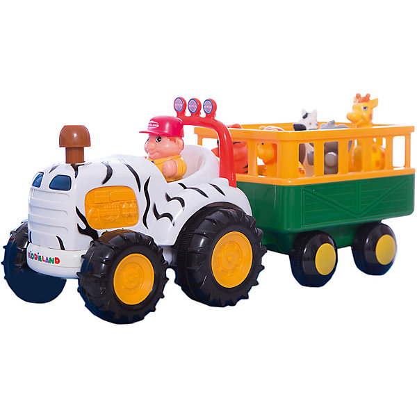 Купить Развивающий центр - трактор Сафари , Kiddieland, Китай, Унисекс