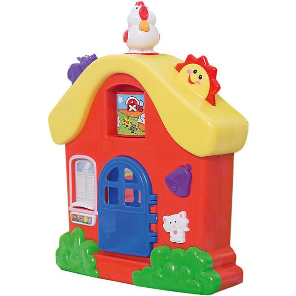 Развивающая игрушка Интерактивный домик, KiddielandИнтерактивные игрушки для малышей<br>Развивающая игрушка Интерактивный домик, Kiddieland<br><br>Характеристики:<br>- В набор входит: домик, элементы питания<br>- Материал: пластик<br>- Элементы питания: батарейки АА, 2 шт.<br>- Размер упаковки: 8 * 30 * 23 см.<br>Развивающая игрушка Интерактивный домик от известного китайского бренда игрушек для детей Kiddieland (Киддилэнд) будет прекрасным подарком для ребенка. Целый дом для развития и веселья! Нажимая на животных ребенок узнает как они говорят, колокольчик звонит в дверь домика и приглашает гостей на чашечку чая. Разные песенки и стишки расскажет этот домик. За синей дверкой находится безопасное зеркальце. Изготовленная пластика высокого качества, разноцветная игрушка способствует развитию памяти, воображения, восприятия цвета и звука, социальных навыков, моторики рук.<br>Развивающая игрушка Интерактивный домик, Kiddieland (Киддилэнд) можно купить в нашем интернет-магазине.<br>Подробнее:<br>• Для детей в возрасте: от 1 до 3 лет<br>• Номер товара: 5054091<br>Страна производитель: Китай<br><br>Ширина мм: 240<br>Глубина мм: 80<br>Высота мм: 300<br>Вес г: 873<br>Возраст от месяцев: 12<br>Возраст до месяцев: 36<br>Пол: Унисекс<br>Возраст: Детский<br>SKU: 5054091