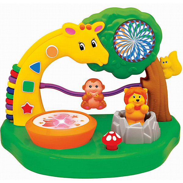 Развивающая игрушка Сафари парк, KiddielandИнтерактивные игрушки для малышей<br>Развивающая игрушка Сафари парк, Kiddieland<br><br>Характеристики:<br>- В набор входит: игрушка, элементы питания<br>- Материал: пластик<br>- Элементы питания: батарейки АА, 2 шт.<br>- Размер упаковки: 33 * 19 * 23 см.<br>Развивающая игрушка Сафари парк от известного китайского бренда игрушек для детей Kiddieland (Киддилэнд) будет прекрасным подарком для ребенка. Целый парк для развития и веселья! Разнообразные функции и отличные мелодии не оставят равнодушными к игрушке. Веселый жираф научит считать, благодаря своим цветным колечкам на спинке, озорная обезьянка просто обожает лазить по своей лиане, а шустрая белочка проводит свое время на дереве. Львенок выпрыгивает из своей пещеры. Изготовленная из пластика высокого качества, разноцветная игрушка способствует развитию памяти, воображения, восприятия цвета и звука, социальных навыков, моторики рук.<br>Развивающая игрушка Сафари парк, Kiddieland (Киддилэнд) можно купить в нашем интернет-магазине.<br>Подробнее:<br>• Для детей в возрасте: от 1 до 3 лет<br>• Номер товара: 5054092<br>Страна производитель: Китай<br><br>Ширина мм: 330<br>Глубина мм: 200<br>Высота мм: 230<br>Вес г: 1100<br>Возраст от месяцев: 12<br>Возраст до месяцев: 36<br>Пол: Унисекс<br>Возраст: Детский<br>SKU: 5054092