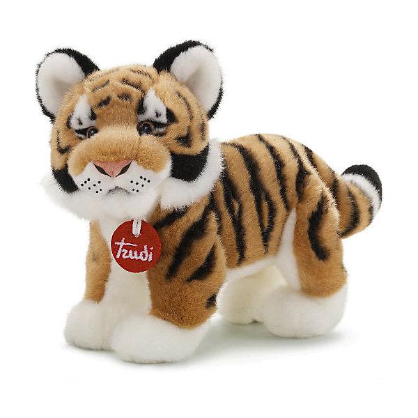Тигр Саша, 26 см, TrudiМягкие игрушки животные<br>Очаровательный тигр Саша станет лучшим другом вашему малышу! У тигренка мягкая шерстка, милый розовый носик, добрые озорные глаза - с ним будет очень весело играть днем и спокойно и уютно засыпать ночью. <br>Игрушка изготовлена из высококачественных экологичных материалов абсолютно безопасных для детей. Благодаря тщательной проработке всех деталей, тигр выглядит очень реалистично, что, несомненно, порадует ребенка. Прекрасный подарок на любой праздник! <br><br>Дополнительная информация:<br><br>- Материал: плюш, пластик, текстиль, искусственный мех. <br>- Высота: 26 см. <br>- Допускается машинная стирка при деликатной режиме (30 ?).<br><br>Тигра Сашу, 26 см, Trudi (Труди), можно купить в нашем магазине.<br><br>Ширина мм: 260<br>Глубина мм: 190<br>Высота мм: 190<br>Вес г: 160<br>Возраст от месяцев: 12<br>Возраст до месяцев: 2147483647<br>Пол: Унисекс<br>Возраст: Детский<br>SKU: 5055241