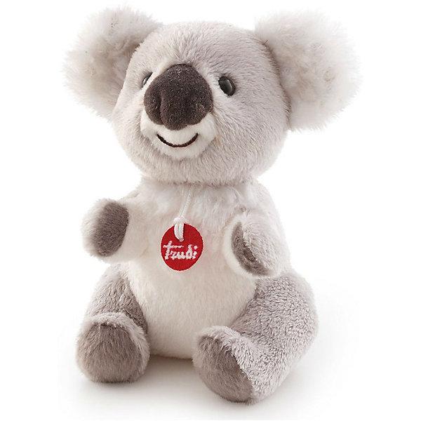 Коала, 15 см, TrudiМягкие игрушки животные<br>Милый коала от Trudi очарует и детей и взрослых! Мягкая шерстка коалы очень приятна на ощупь. С ним будет очень весело играть днем, придумывая разные истории, и спокойно и уютно засыпать ночью. Игрушка изготовлена из высококачественных нетоксичных гипоаллергенных материалов абсолютно безопасных для самых маленьких детей.<br><br>Дополнительная информация:<br><br>- Материал: пластик, текстиль, искусственный мех. <br>- Высота: 15 см. <br>- Допускается машинная стирка при деликатной режиме (30 ?).<br><br>Коалу, 15 см, Trudi (Труди), можно купить в нашем магазине.<br>Ширина мм: 95; Глубина мм: 150; Высота мм: 140; Вес г: 80; Возраст от месяцев: 12; Возраст до месяцев: 2147483647; Пол: Унисекс; Возраст: Детский; SKU: 5055247;